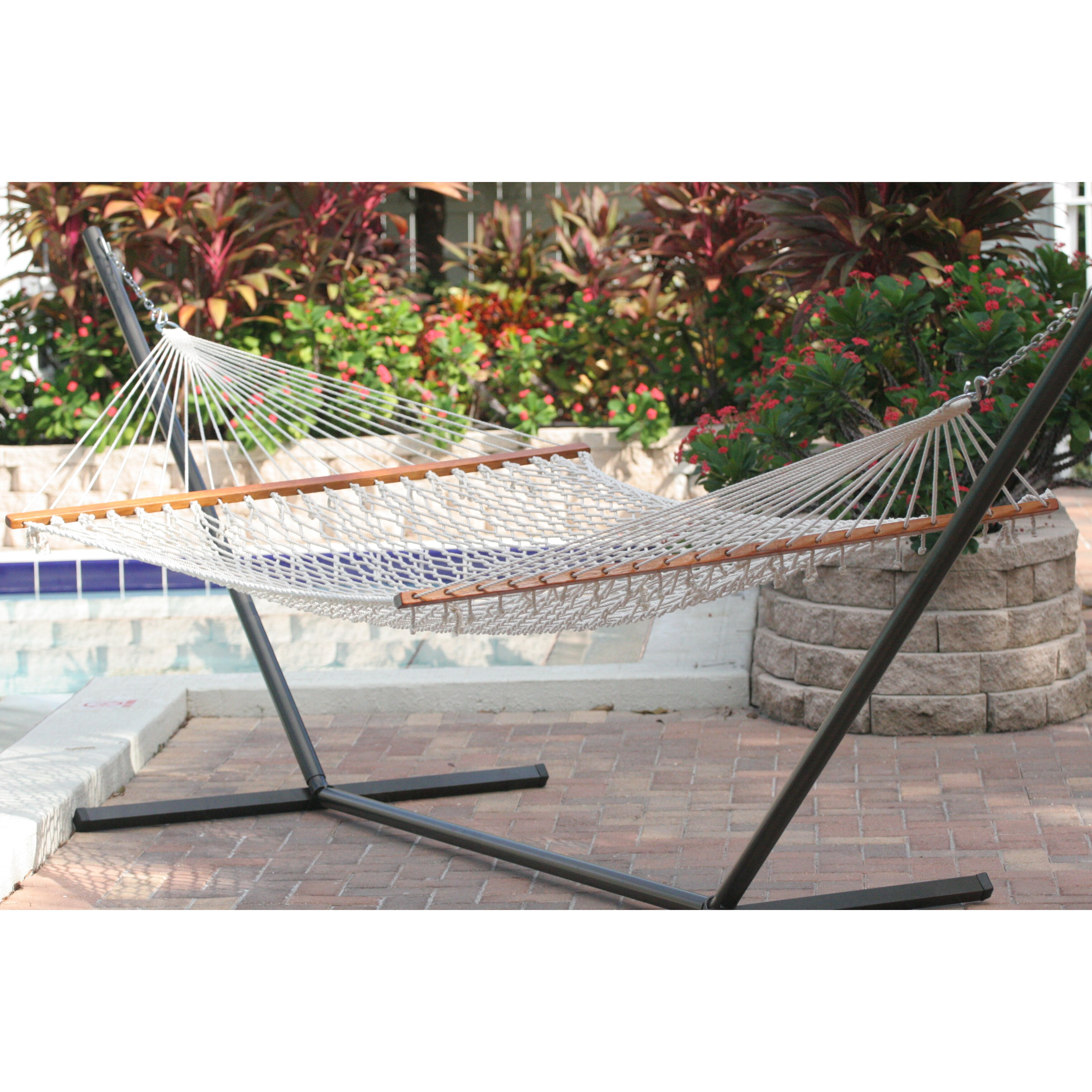 Smart Living Cancun Premium Two Person Rope Hammock ...