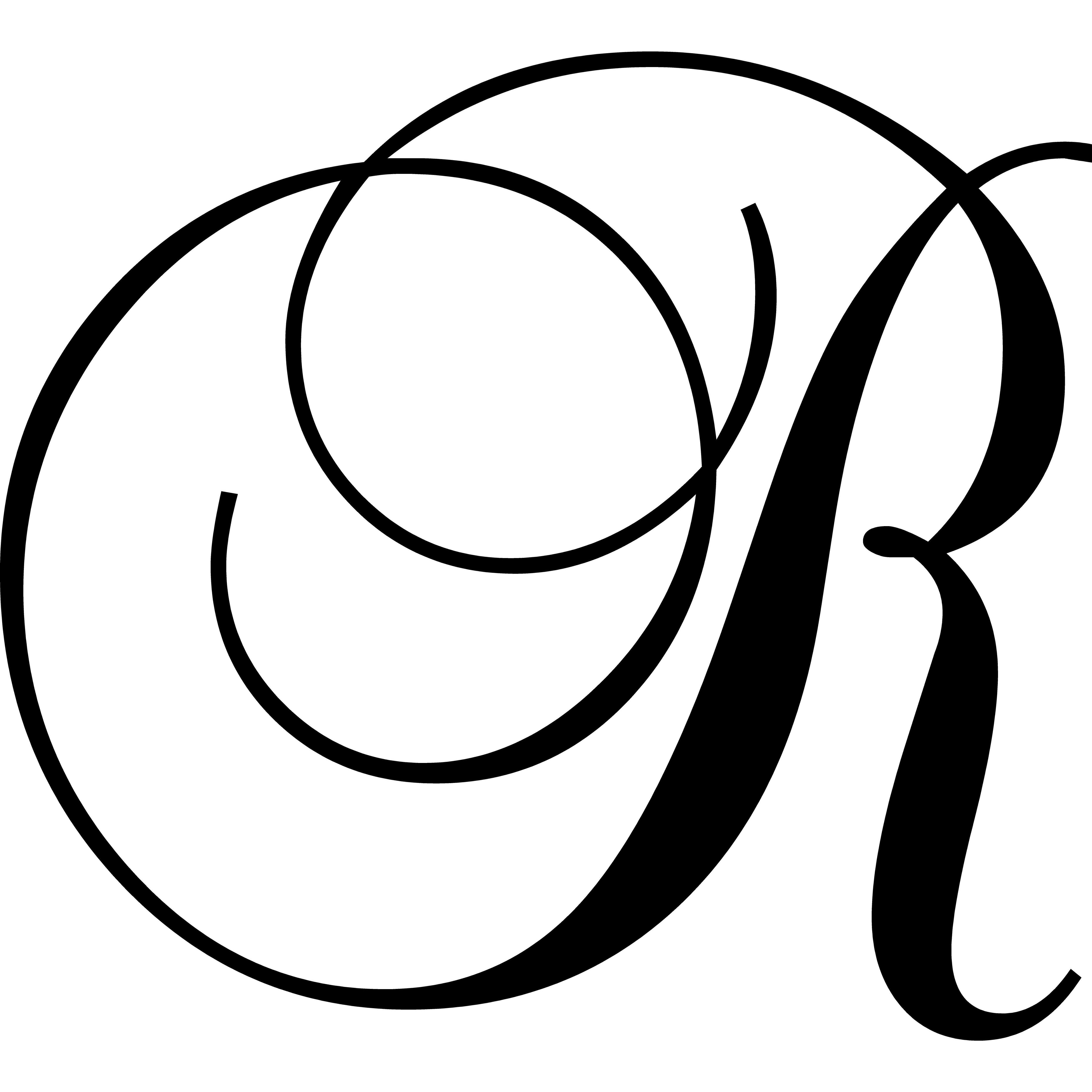 "Enchantingly Elegant Letter ""R"" Wall Decal"