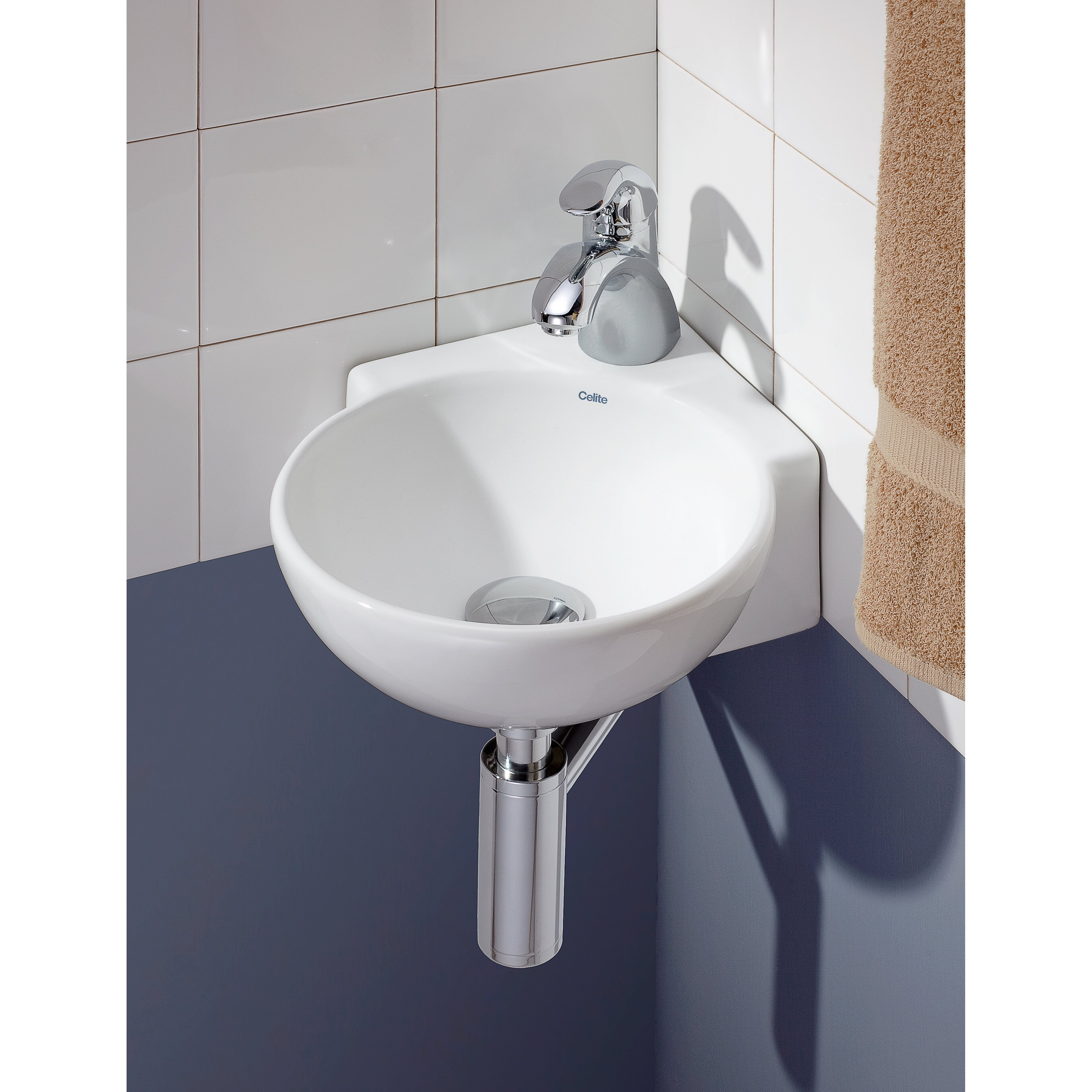 Cheviotproducts 12 75 Quot Corner Wall Mount Vessel Sink
