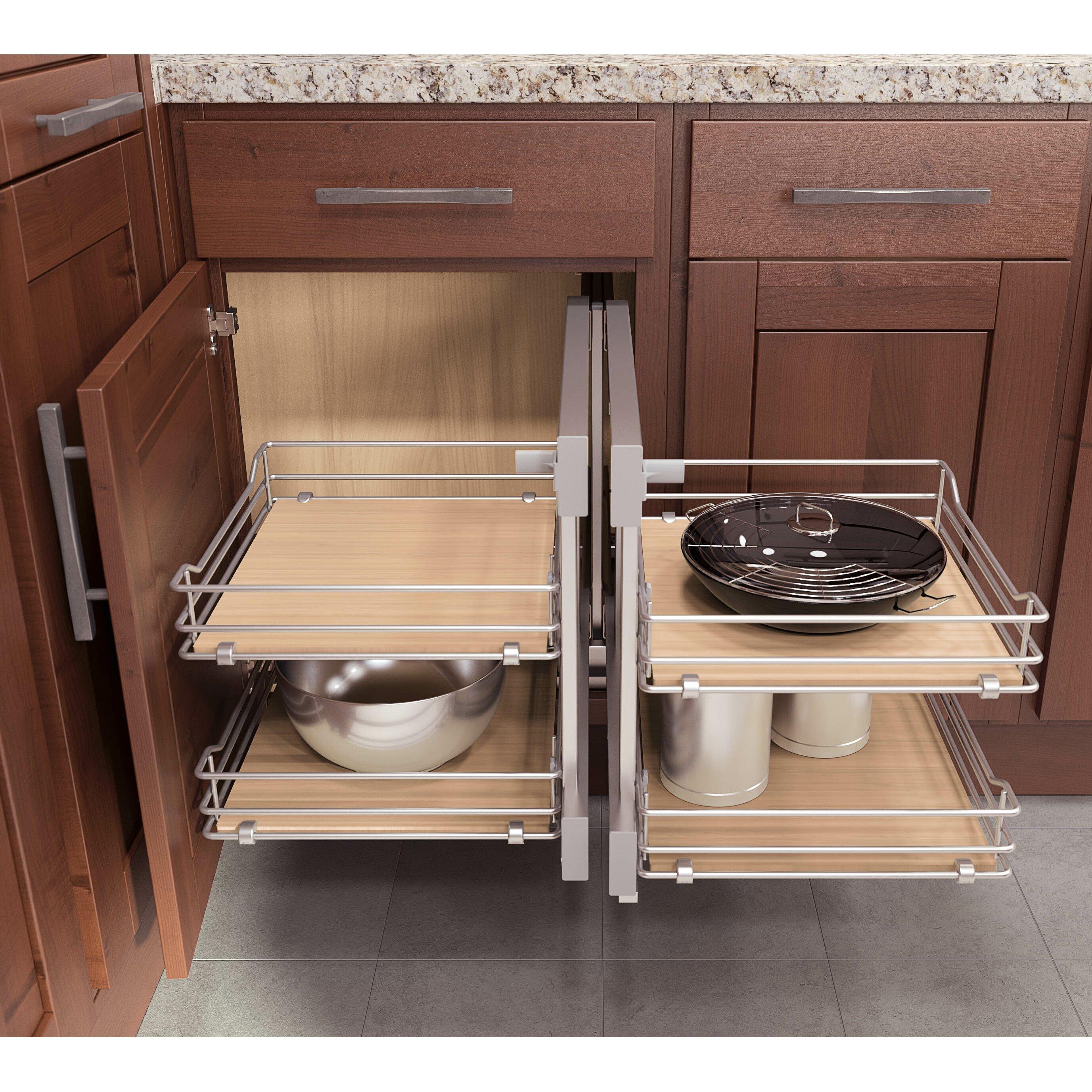 Vauth sagel flex corner basket for cabinet wayfair for Wayfair kitchen cabinets