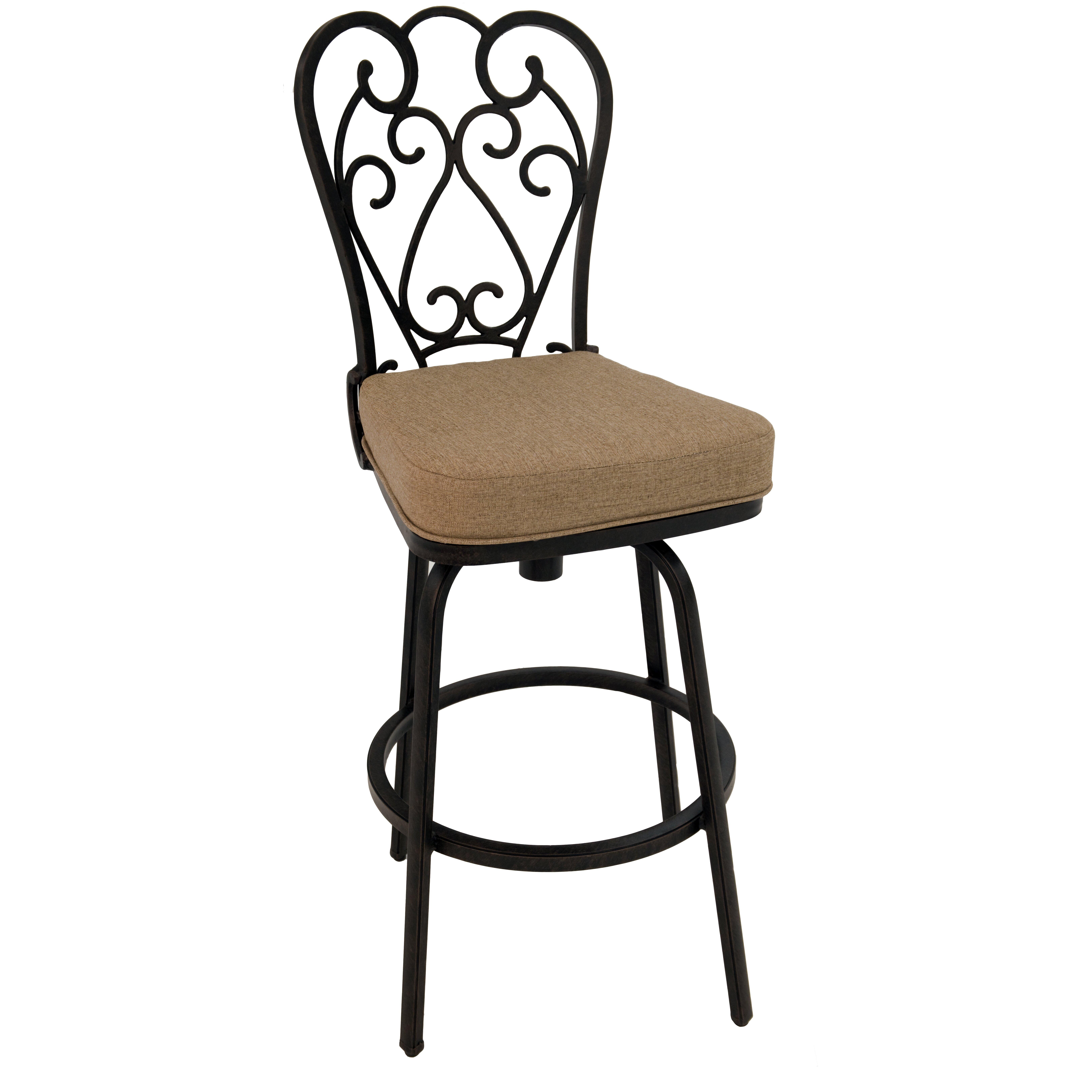 Impacterra magnolia 30quot bar stool with cushion wayfair for Magnolia home furniture bar stools