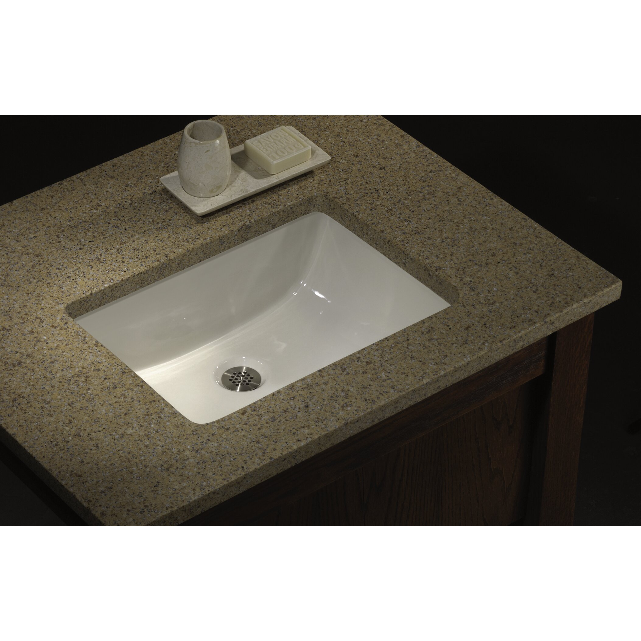 Lenova porcelain undermount bathroom sink wayfair for Bathroom undermount sinks