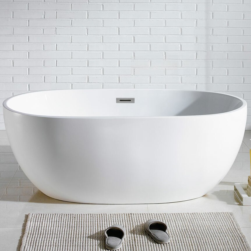 Pacificcollection tropicana 60 x 30 soaking bathtub for Soaking tub vs bathtub