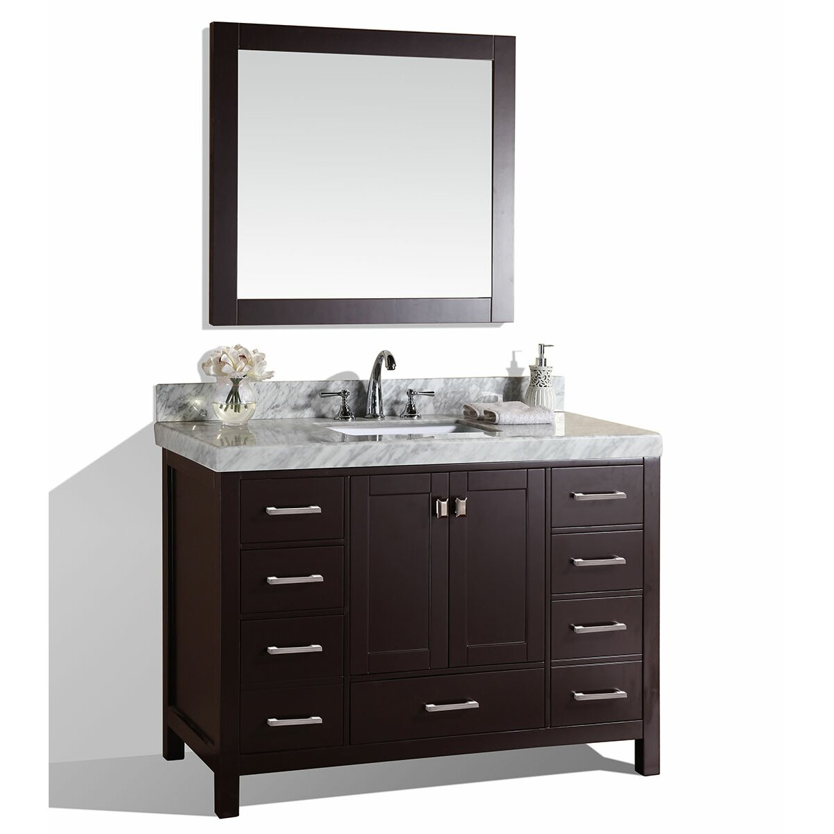 Pacificcollection Malibu 61 Single Modern Bathroom Vanity Set Wayfair