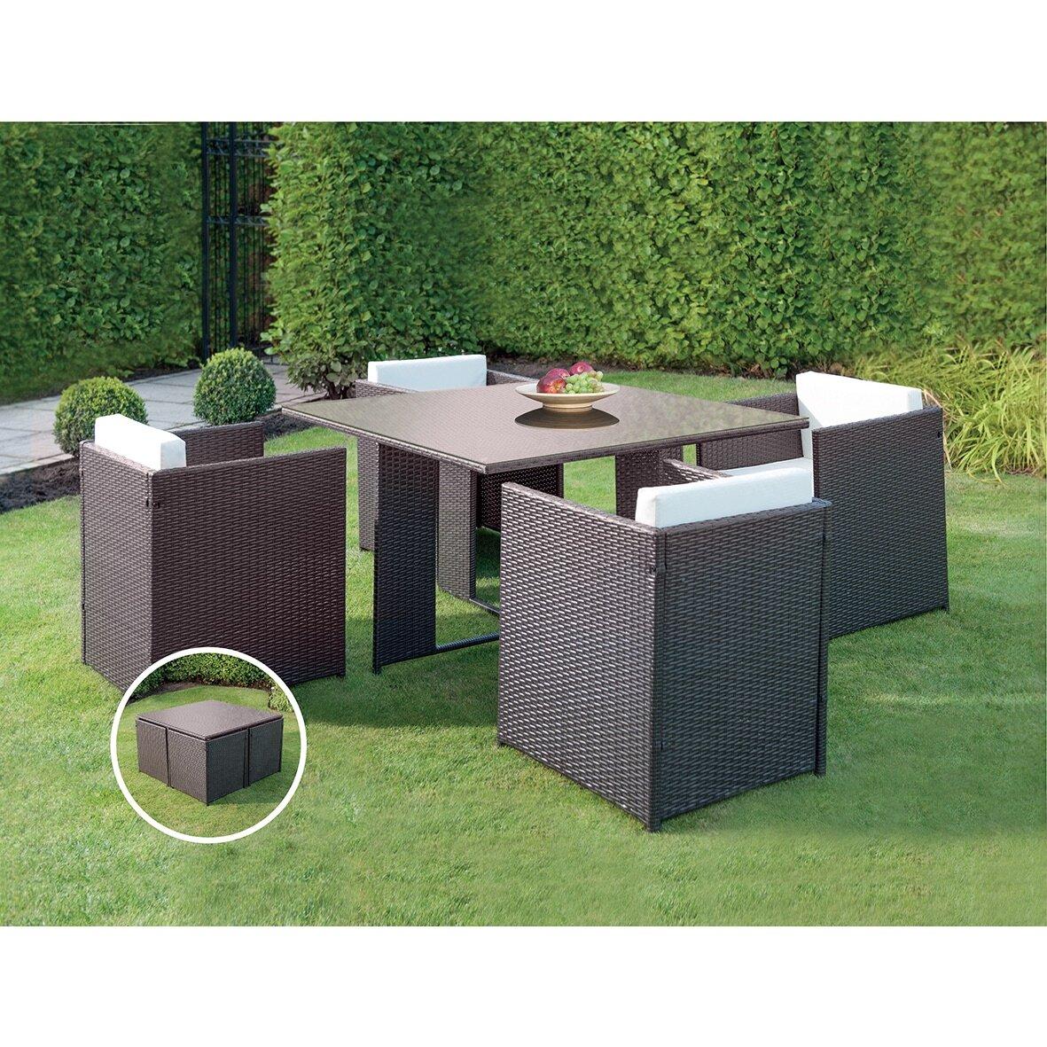 jb patio patio wicker outdoor 5 dining set wayfair ca