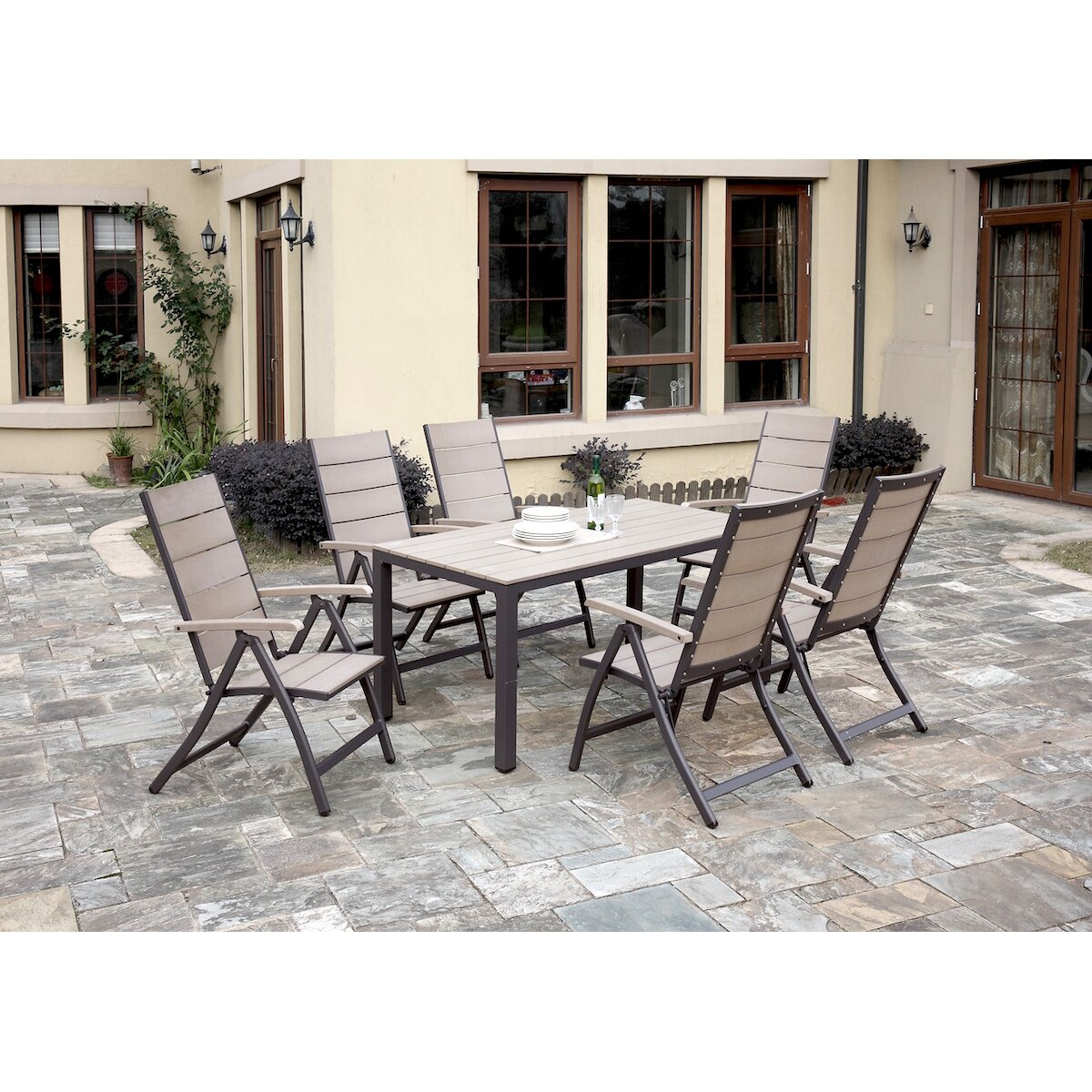 7 Piece Dining Set ~ Jb patio piece dining set wayfair