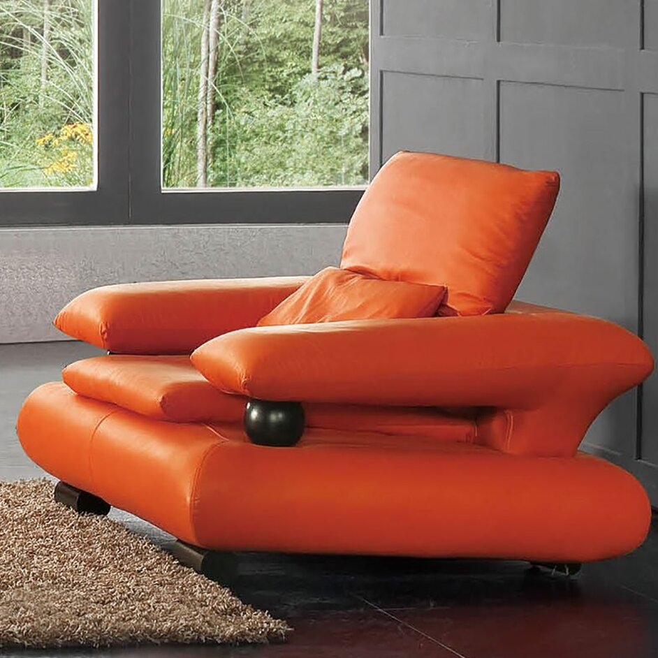 NociDesign Noci Design Orange Chair Wayfair
