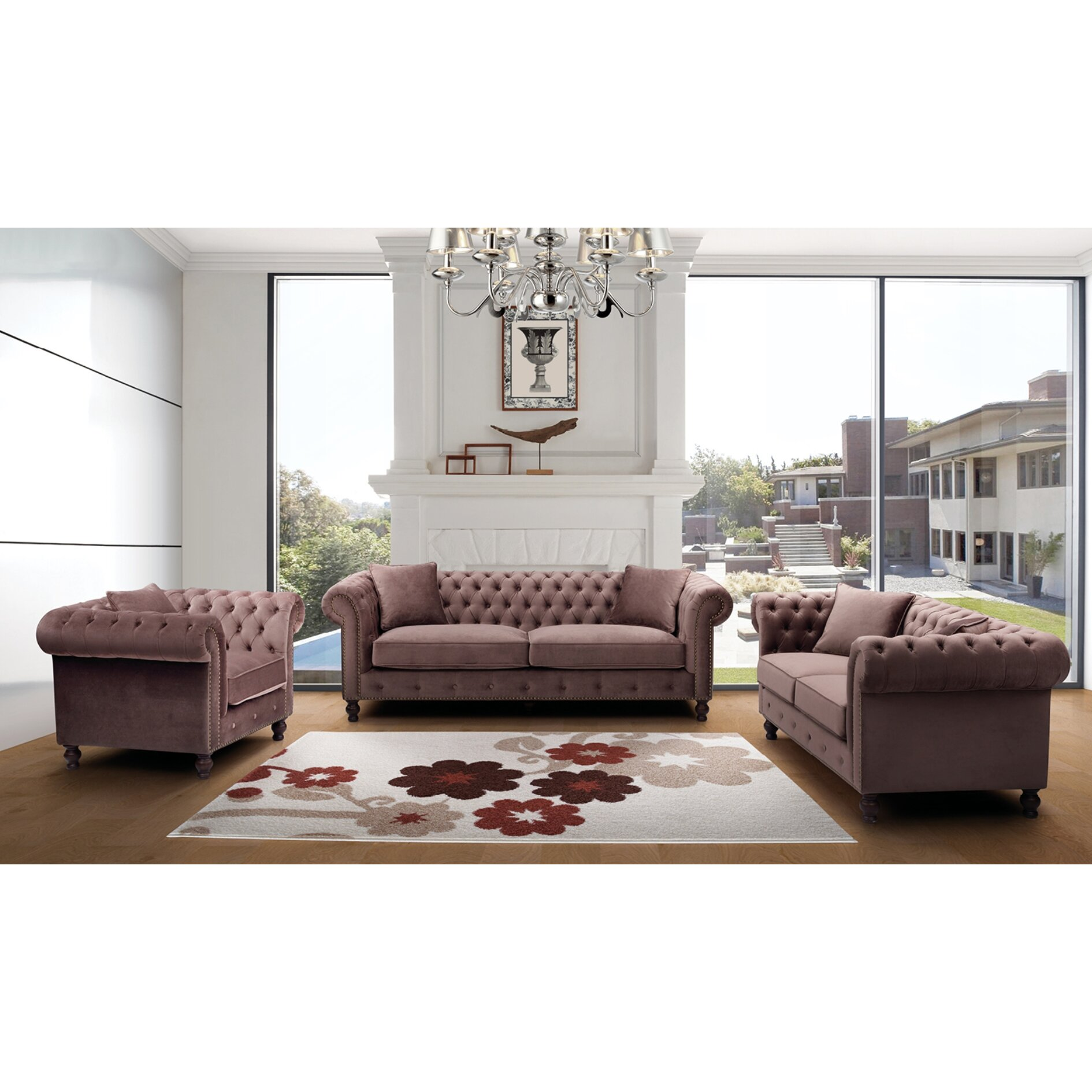 Nocidesign 3 piece living room set wayfair for 3 piece living room furniture