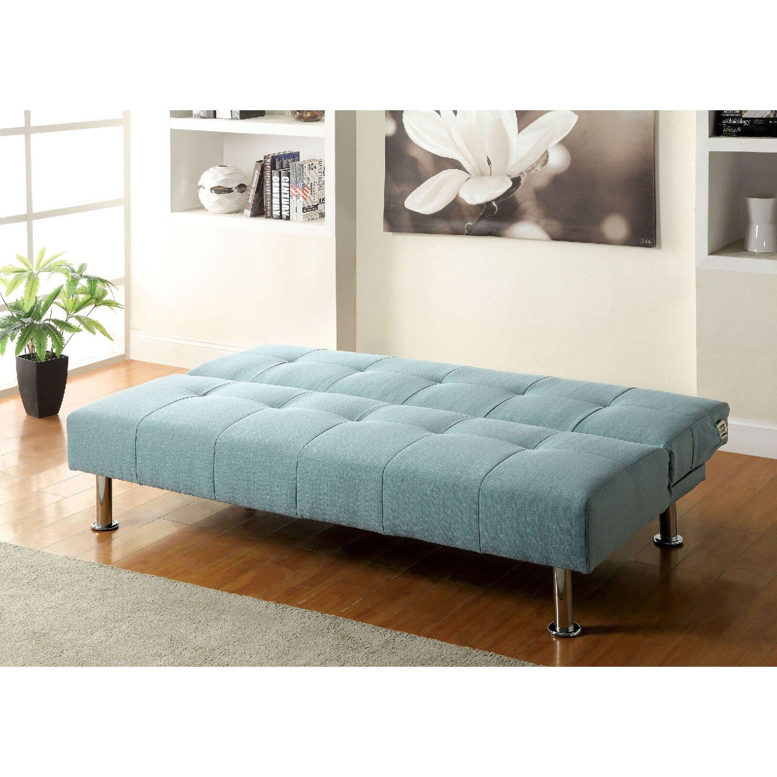 homes studio tufted futon sleeper sofa reviews wayfair
