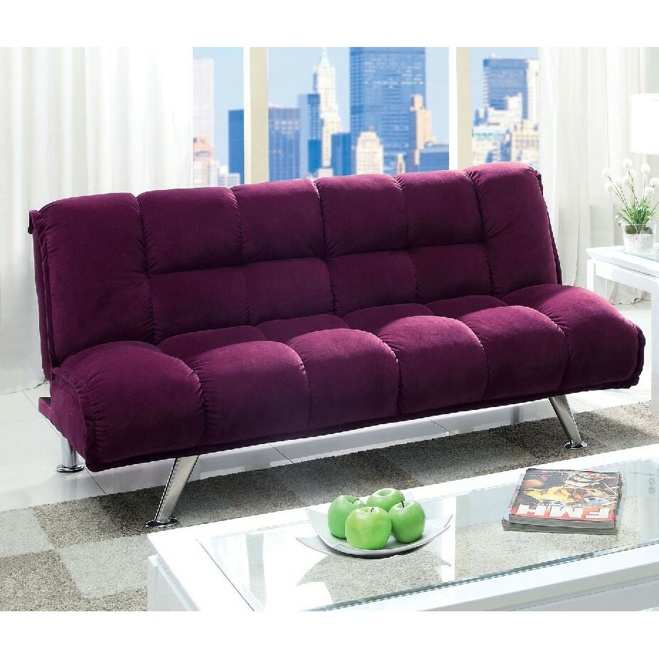 a j homes studio dorries tufted flannelette sleeper sofa