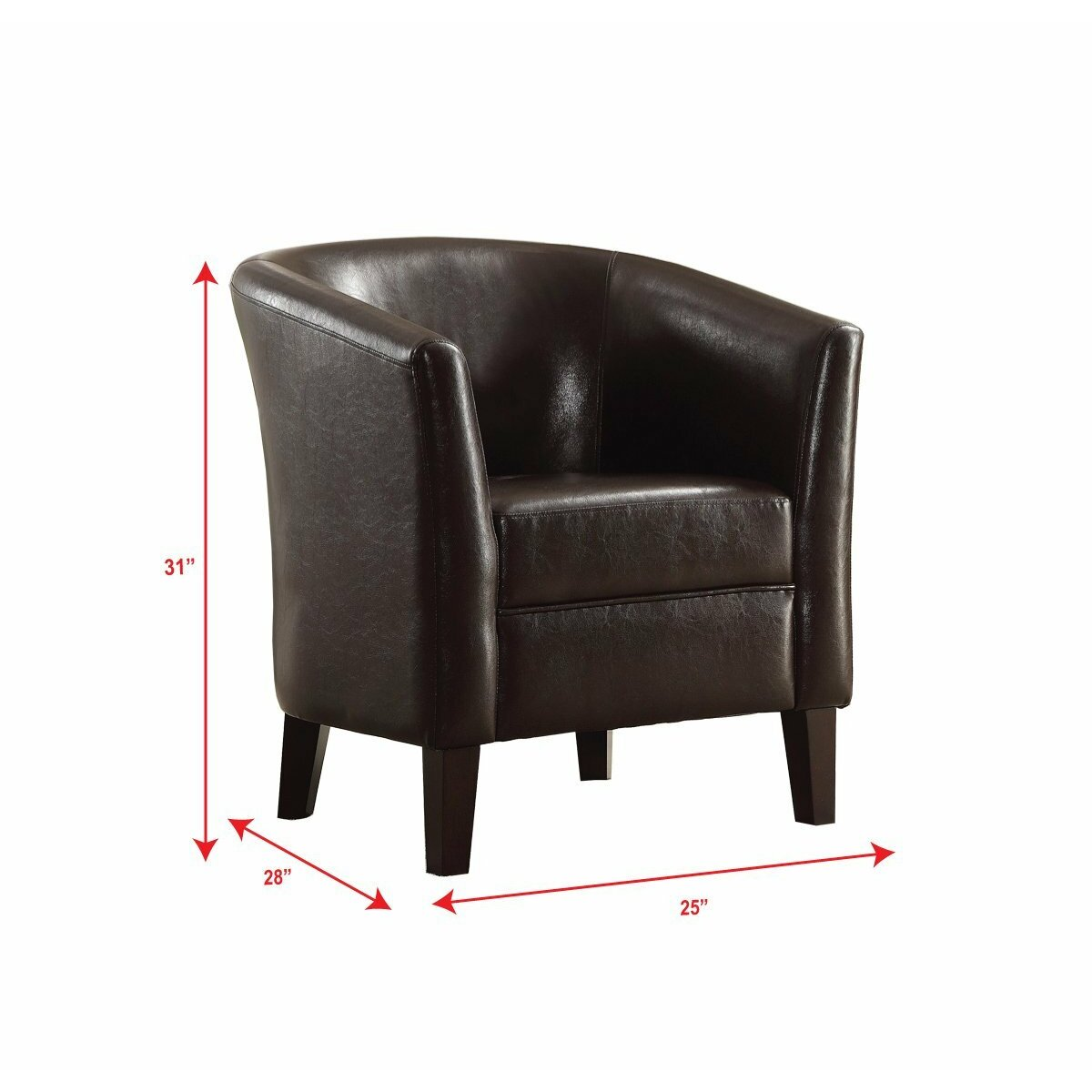 A J Homes Studio Accent Leather Arm Chair Reviews Wayfair