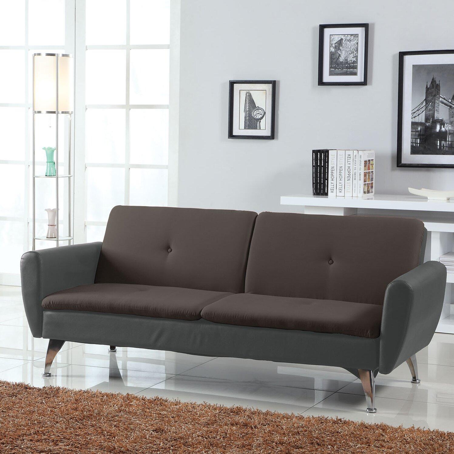 a j homes studio samantha adjustable sleeper sofa wayfair