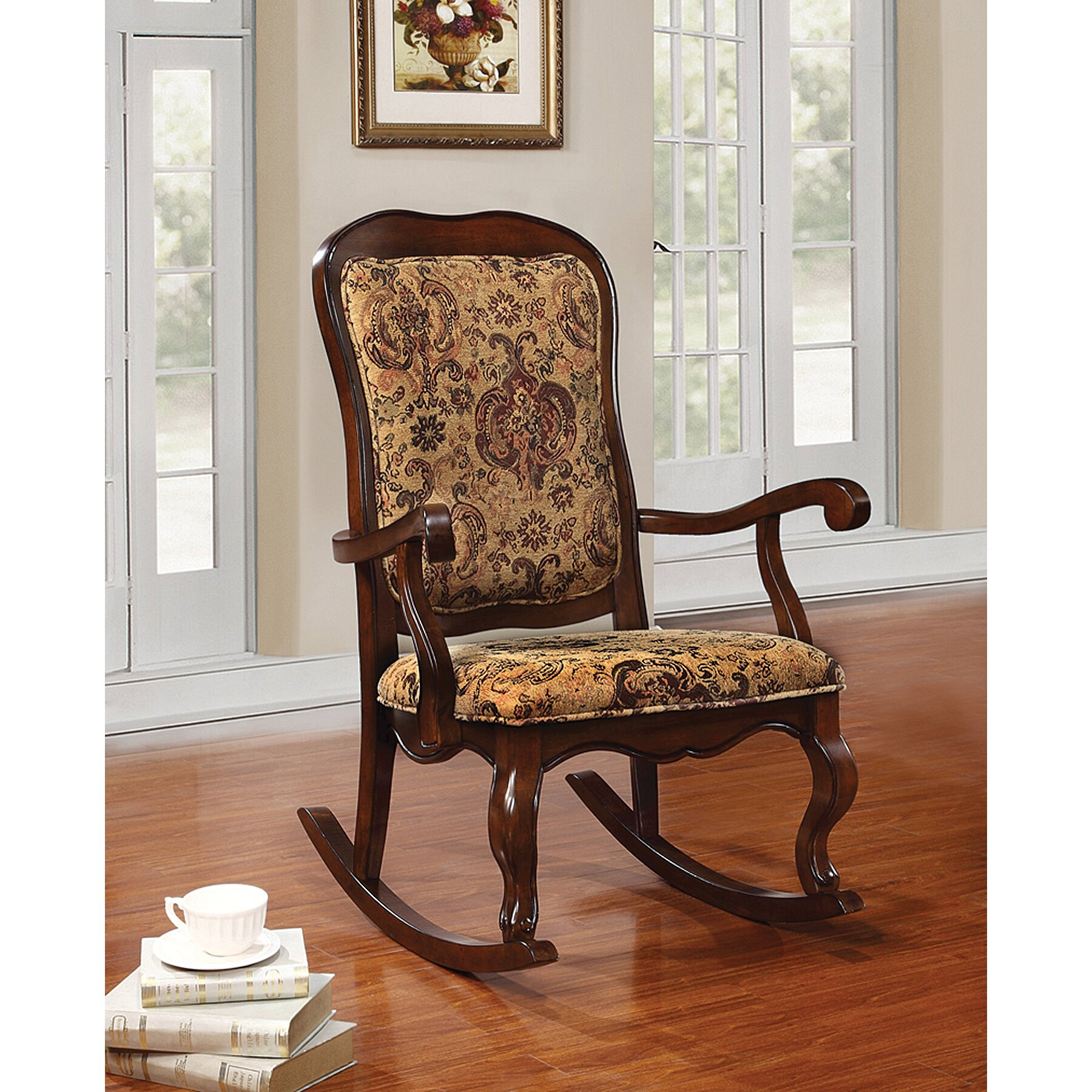 Homes Studio Queenie Rocking Chair Wayfair. Full resolution‎  portraiture, nominally Width 1800 Height 1800 pixels, portraiture with #7B4125.