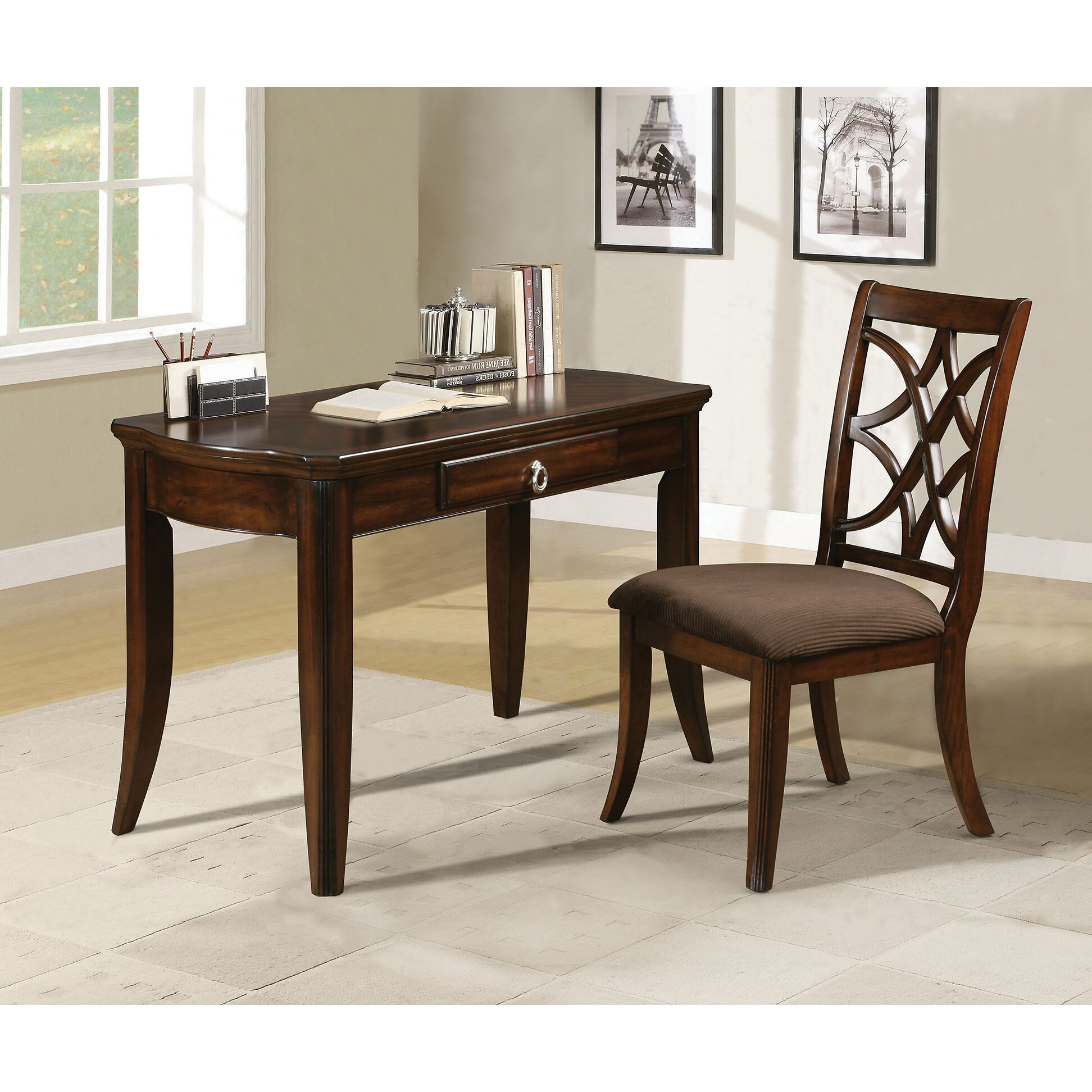 Amazing photo of Homes Studio Altra Writing Desk and Chair Set Wayfair with #352316 color and 1944x1944 pixels