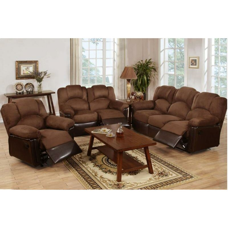 homes studio wilson motion 3 piece living room set wayfair
