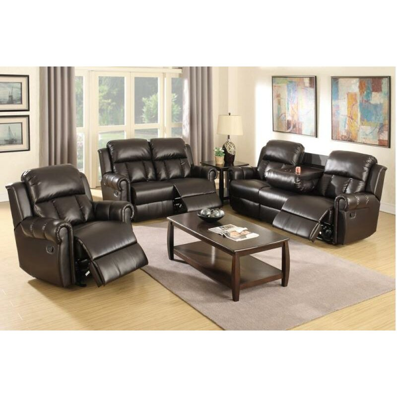 homes studio nancy motion 3 piece living room set wayfair