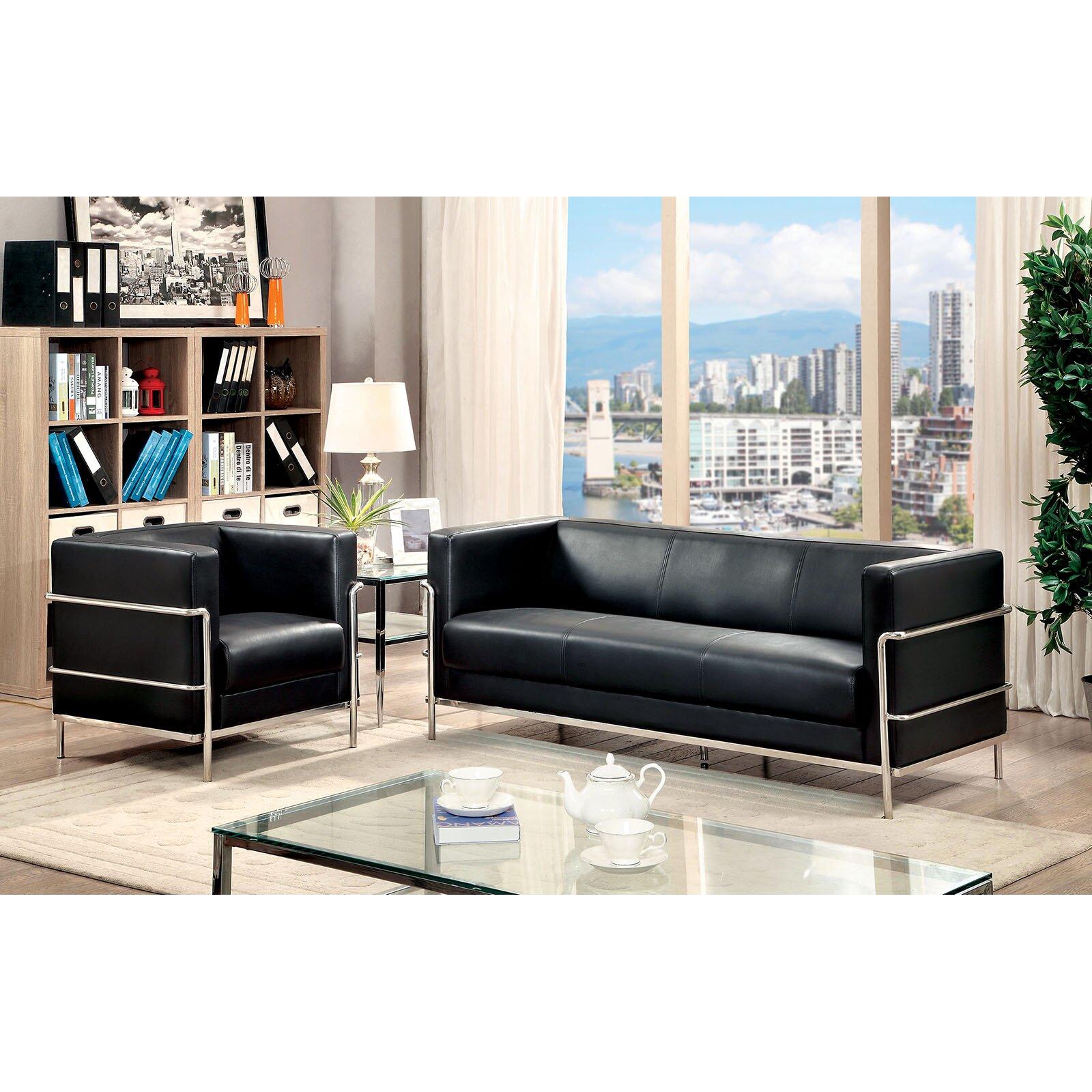 A j homes studio leifur 2 piece living room set wayfair for 2 piece living room set