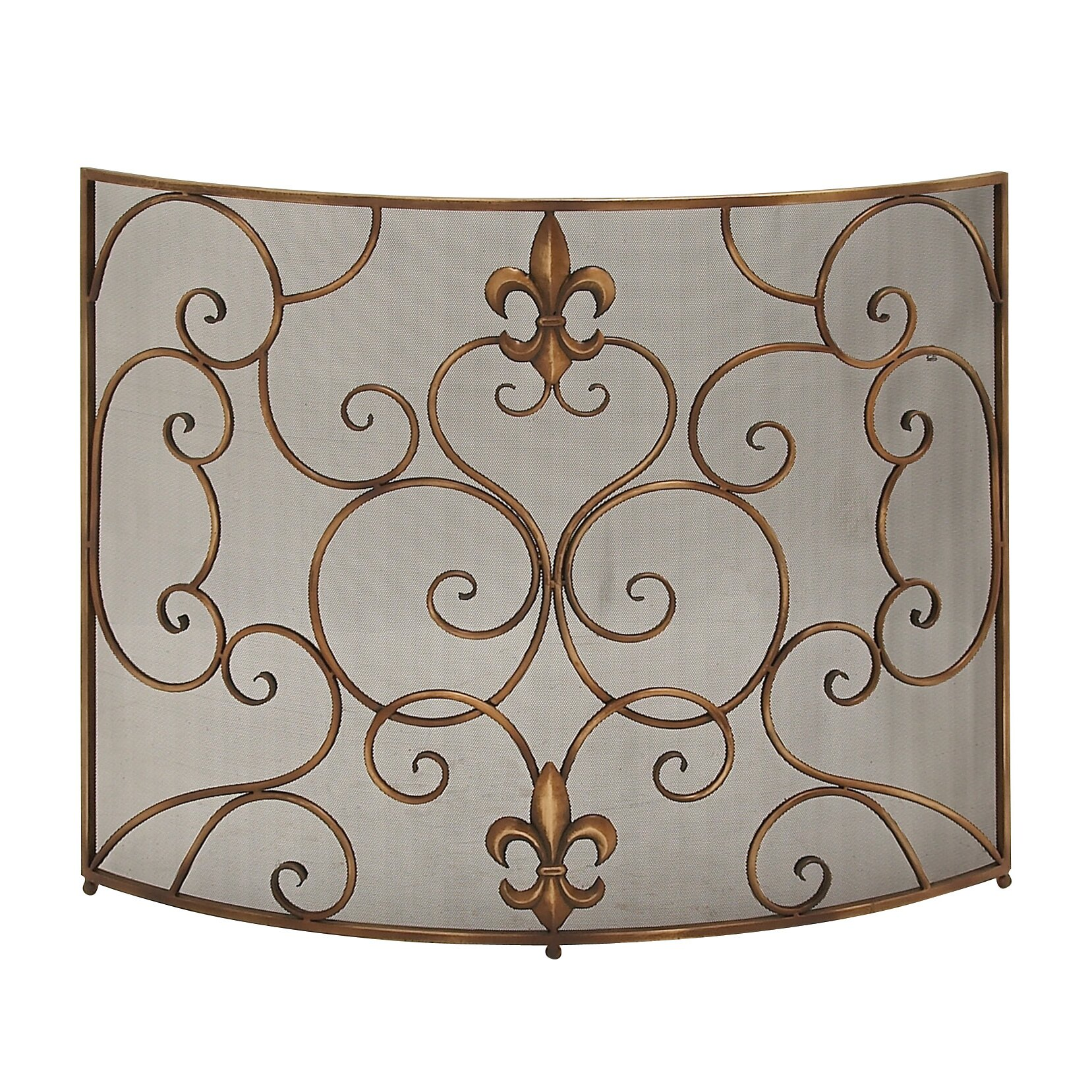 Abchomecollection Single Panel Iron Fireplace Screen Reviews Wayfair