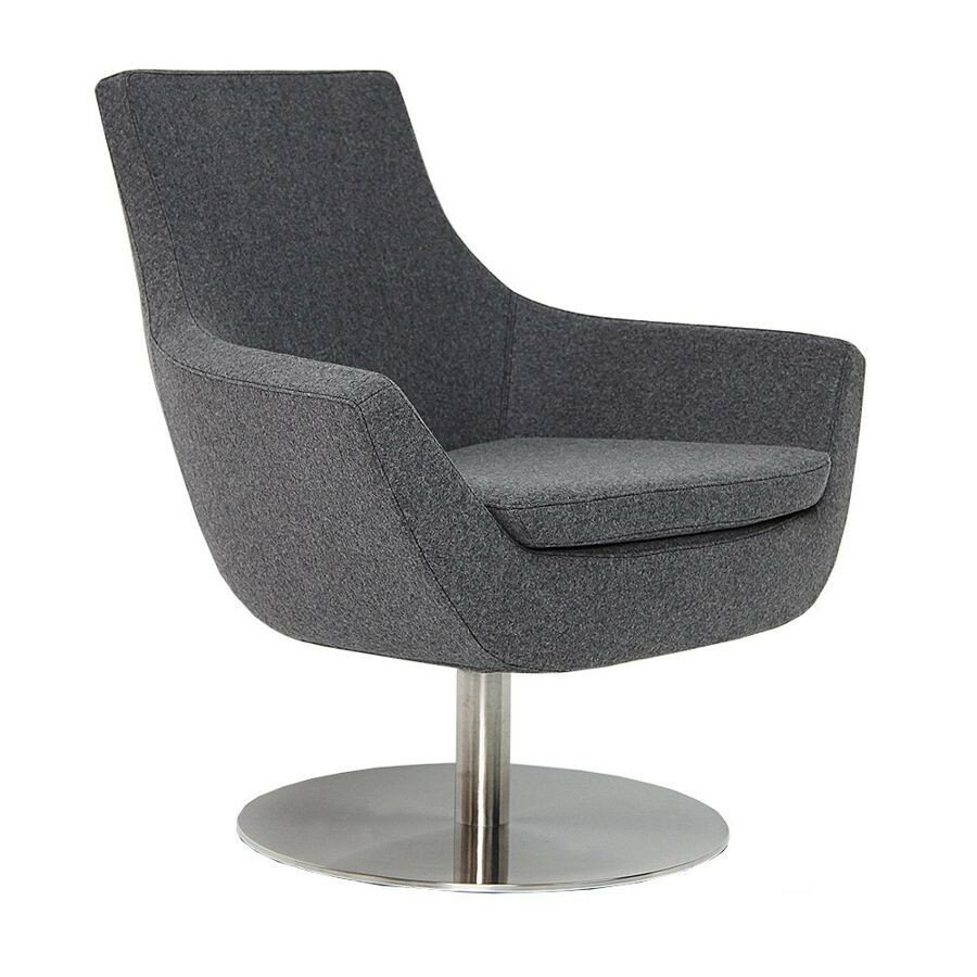 Modern chairs usa joy swivel lounge chair for Modern swivel chair