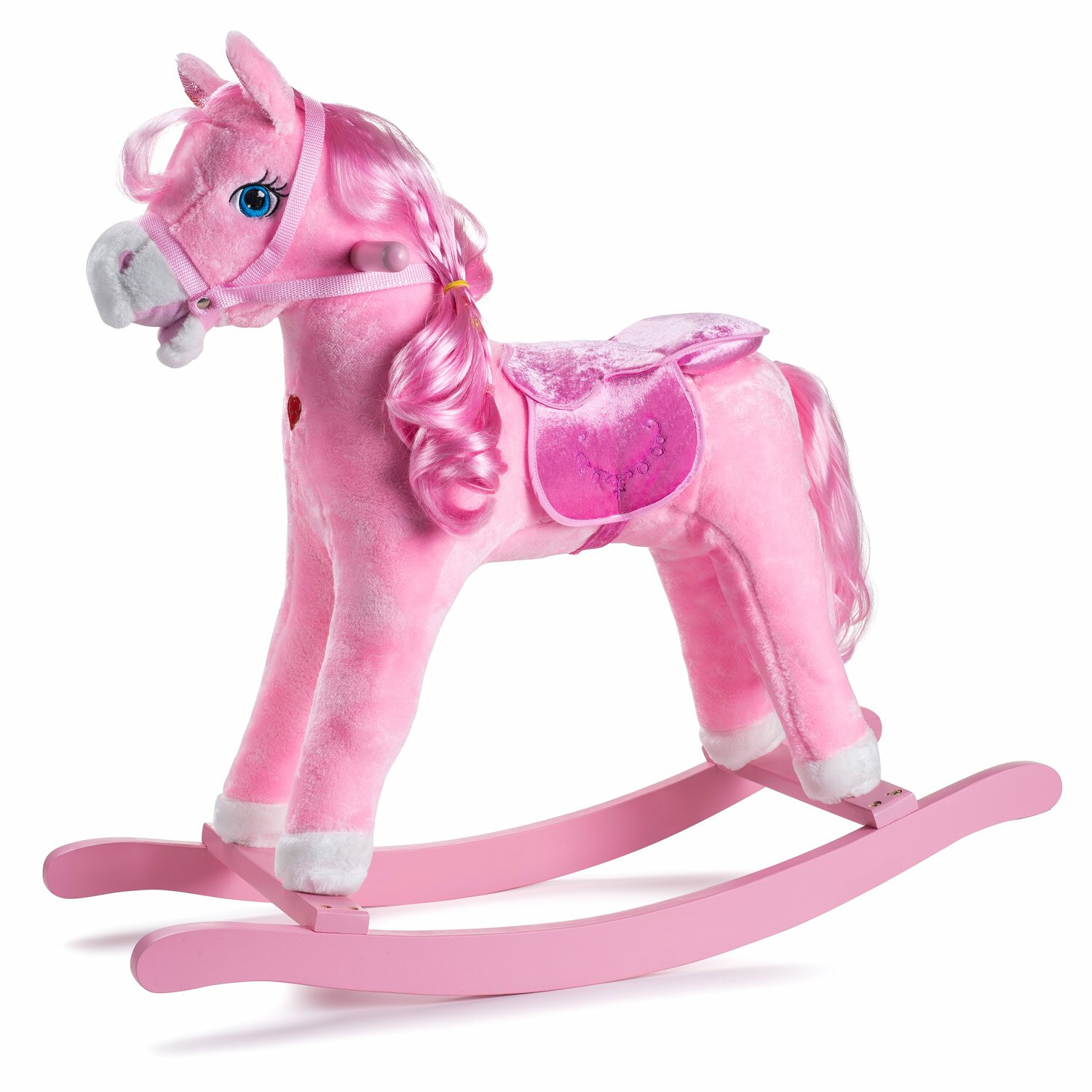 Shop bobby 39 s joon princess pony rocking horse wayfair - Princesse poney ...