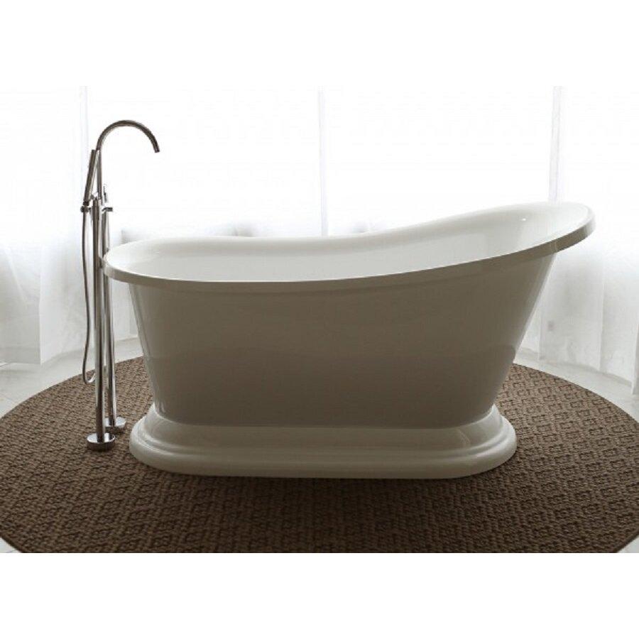 Signature bath 67 x 30 soaking bathtub wayfair for Free standing bath tubs for sale