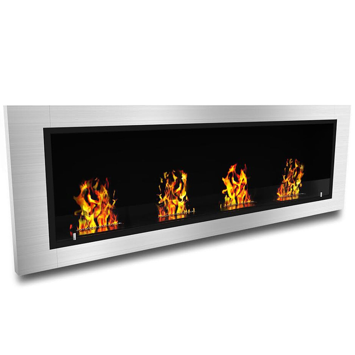 Elite Flame Luxe Ventless Wall Mount Bio Ethanol Fireplace