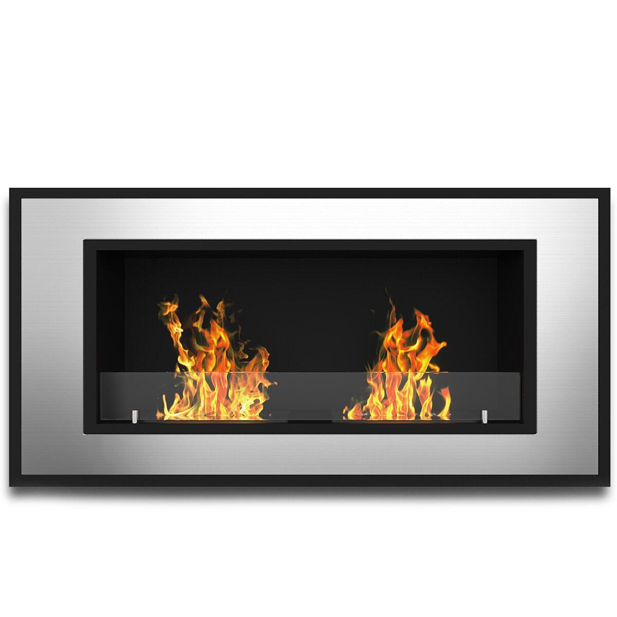 Elite Flame Tulsa Ventless Wall Mount Bio Ethanol Fireplace Insert Wayfair