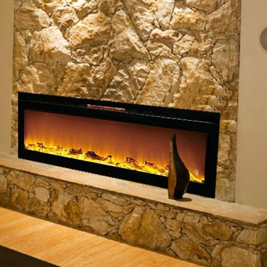 Wall Mount Electric Fireplace Or Recessed Within Designs: Gibson Living Reno Log Wall Mount Electric Fireplace