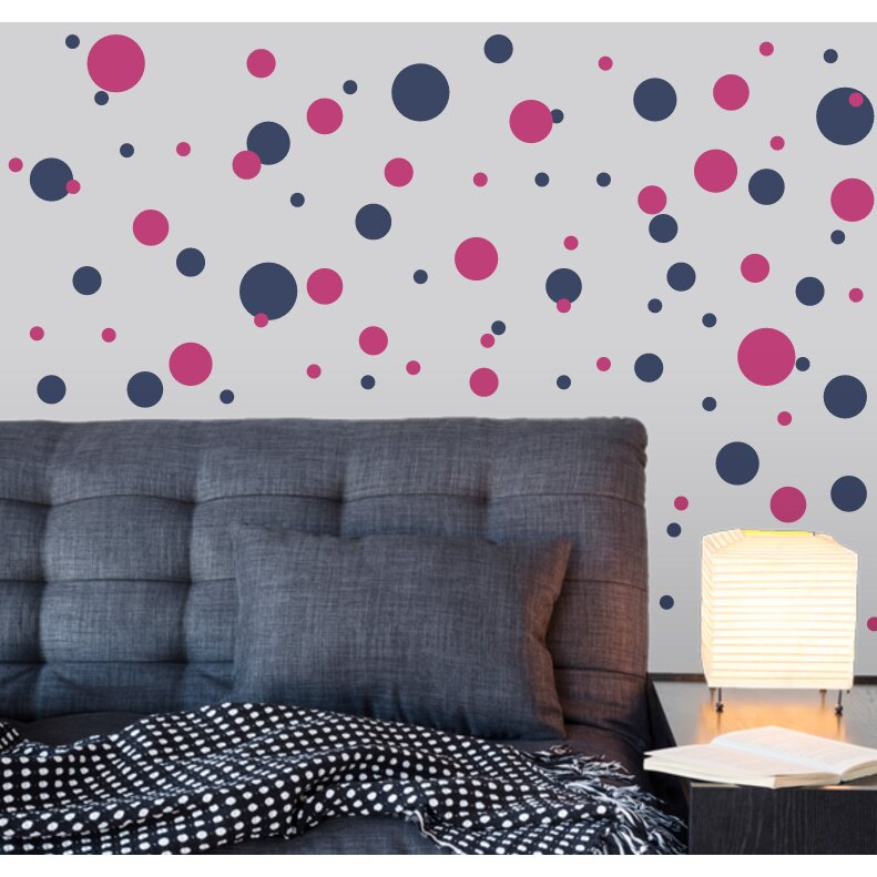 Wallums wall decor polka dots wall decal reviews wayfair for Best 20 wallums wall decals reviews