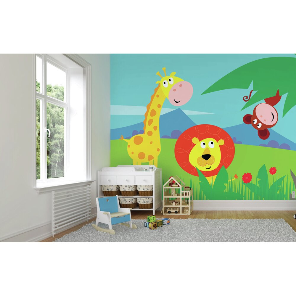 ohpopsi safari wall mural wayfair uk