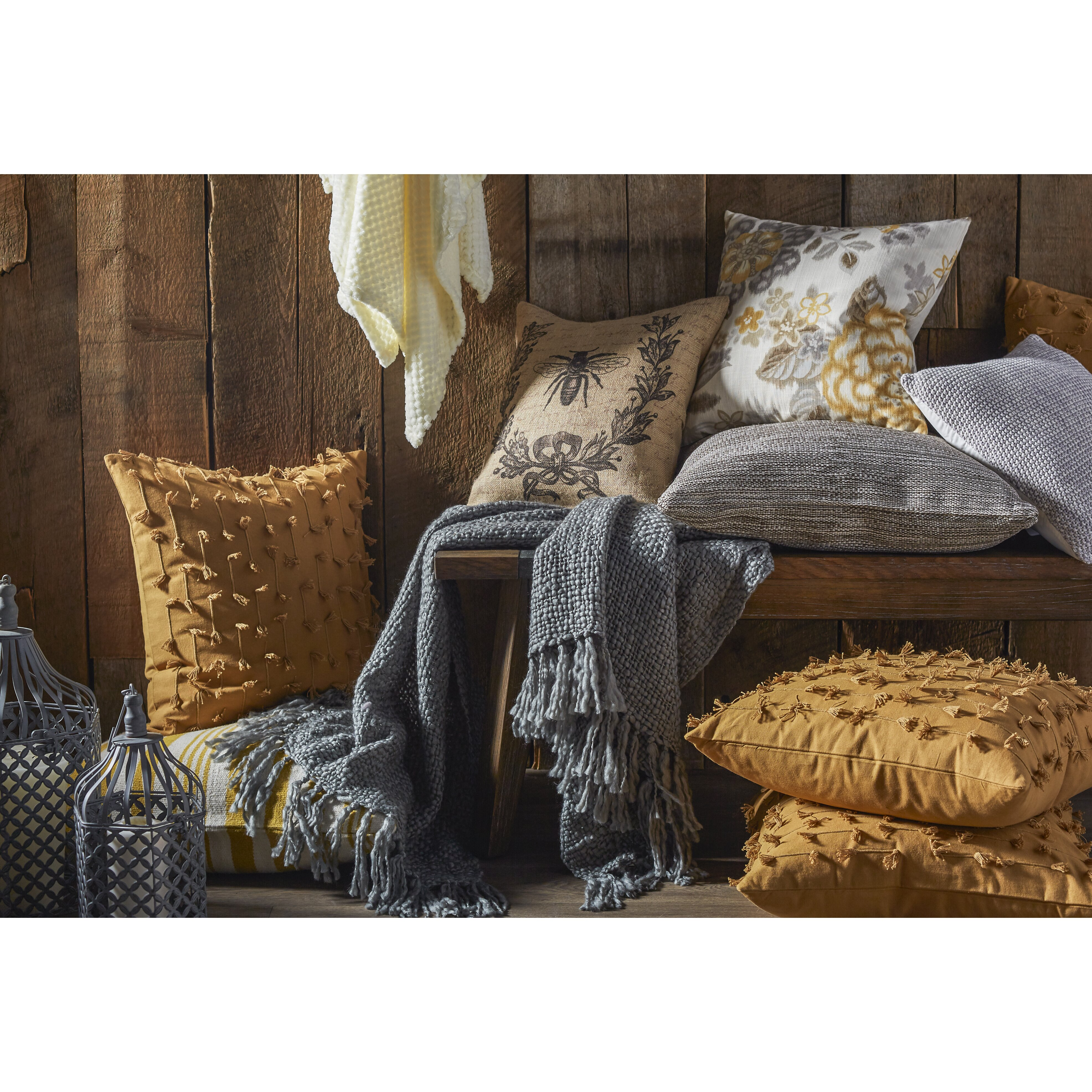 Throw Pillows In Abuja : Fresh American Mingled Indoor/Outdoor Throw Pillow & Reviews Wayfair