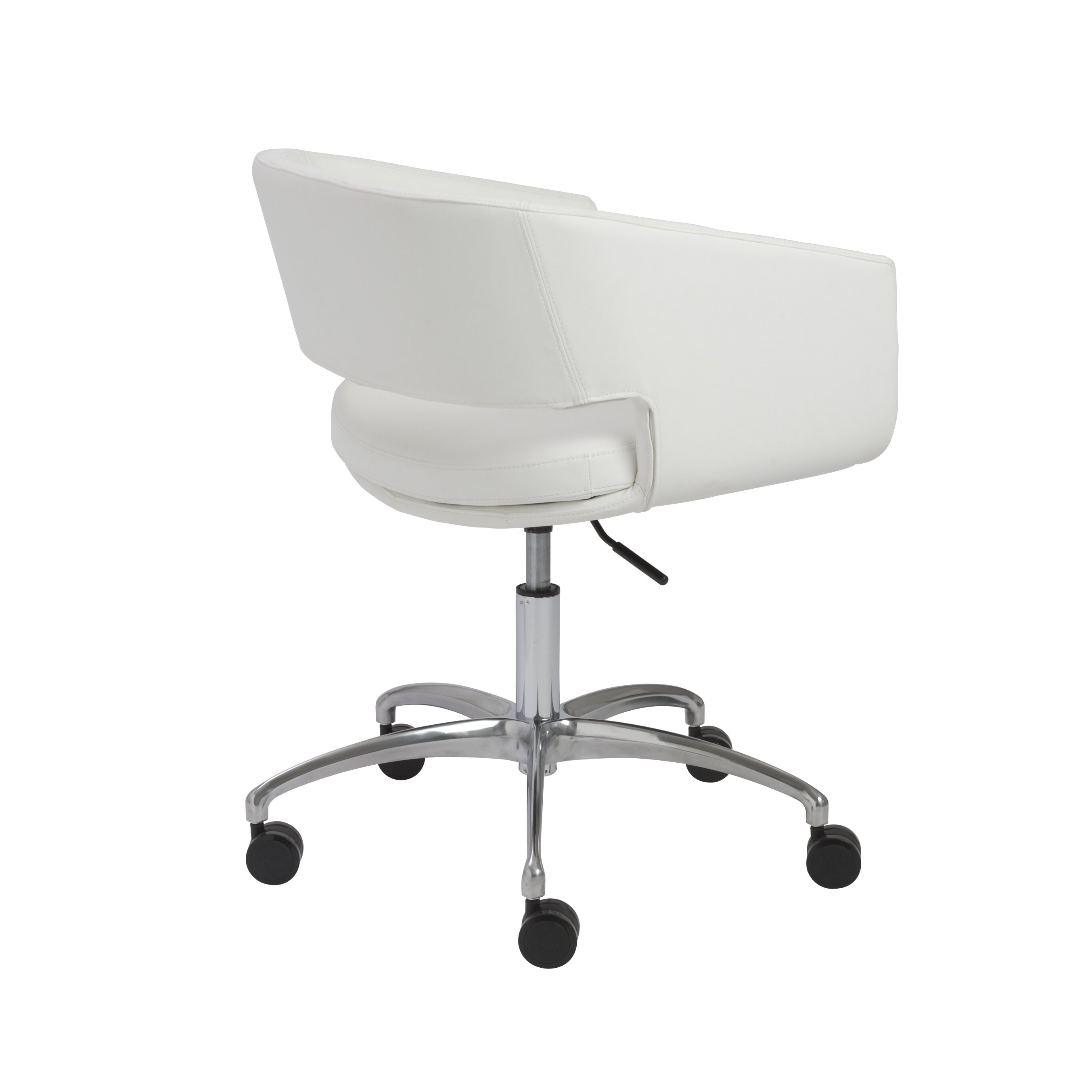 Eurostyle Amelia Low Back Leatherette Office Chair With Arms Reviews