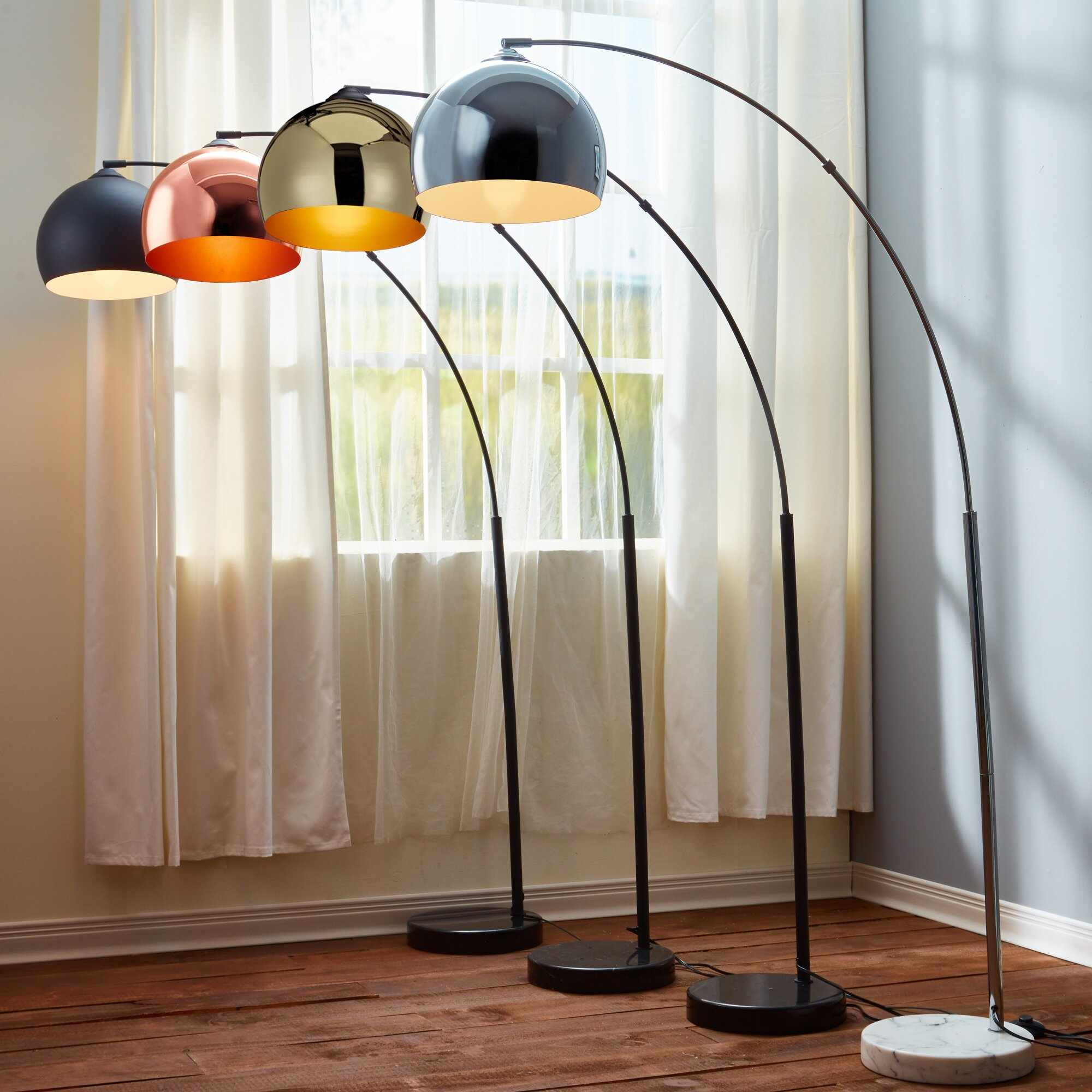 Versanora Arquer 66 93 Quot Arched Floor Lamp Amp Reviews Wayfair