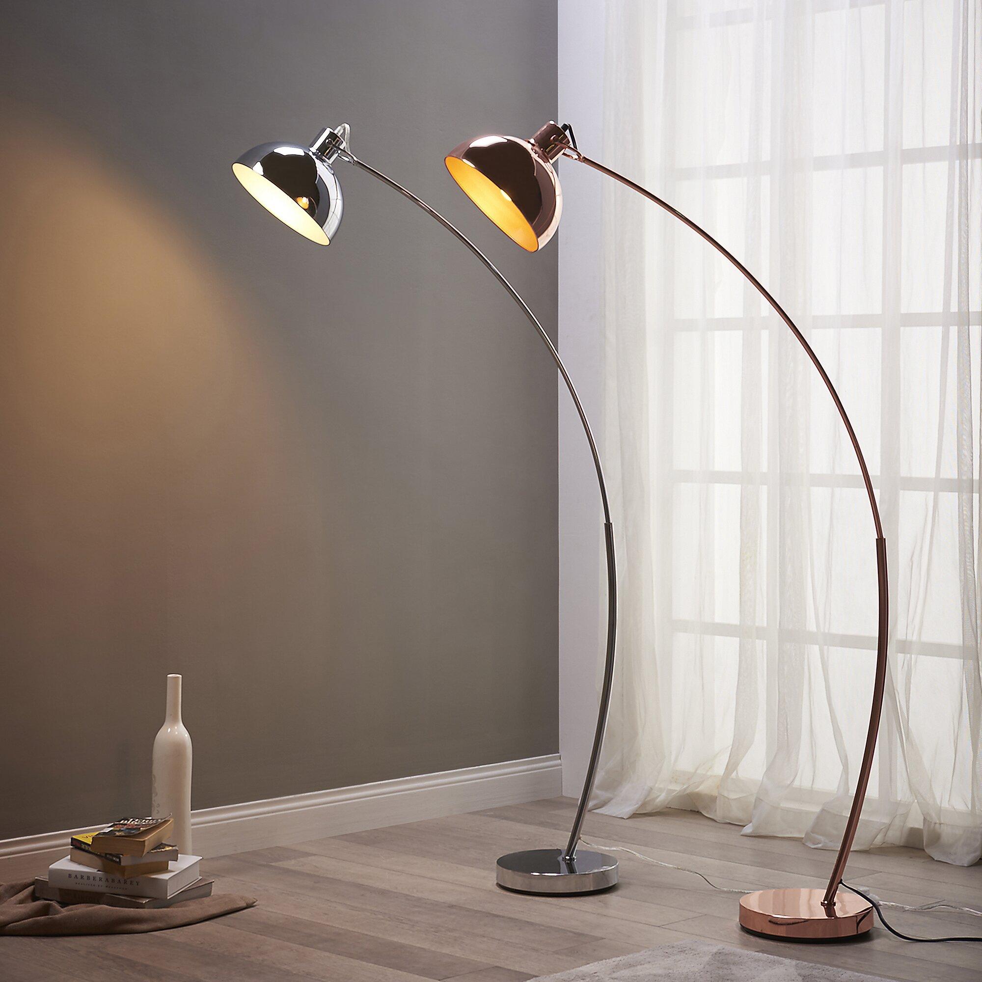 "VERSANORA Arco 63"" Arched Floor Lamp & Reviews   Wayfair"