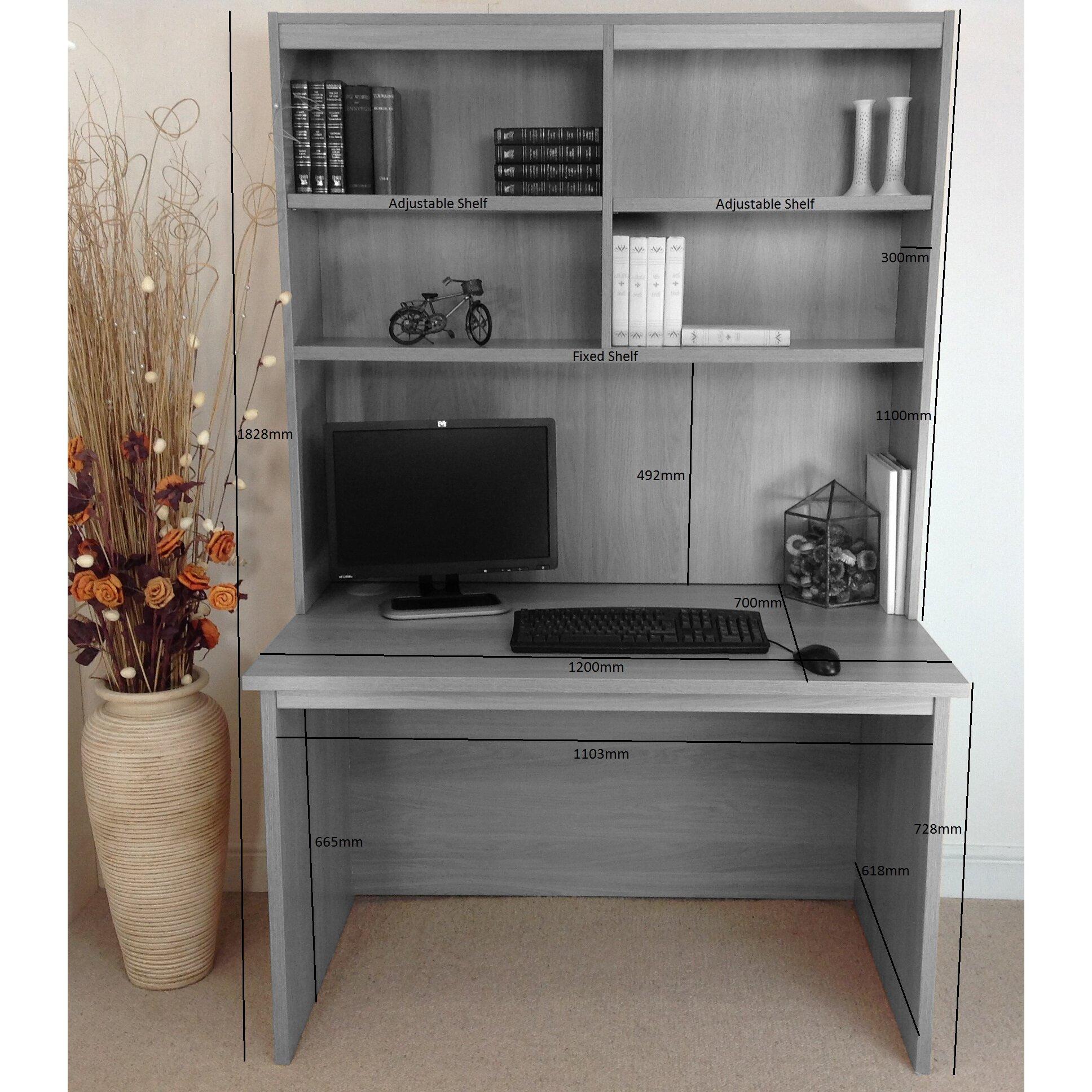 Home Office UK Computer Desk with Hutch Wayfair UK