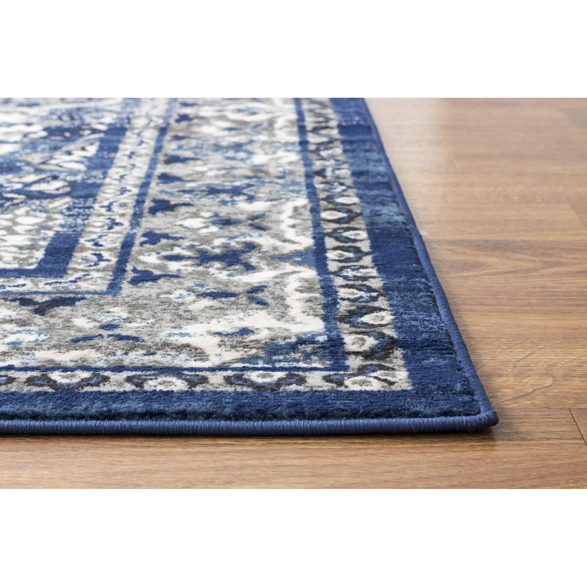 super area rugs artifact blue gray area rug wayfair. Black Bedroom Furniture Sets. Home Design Ideas
