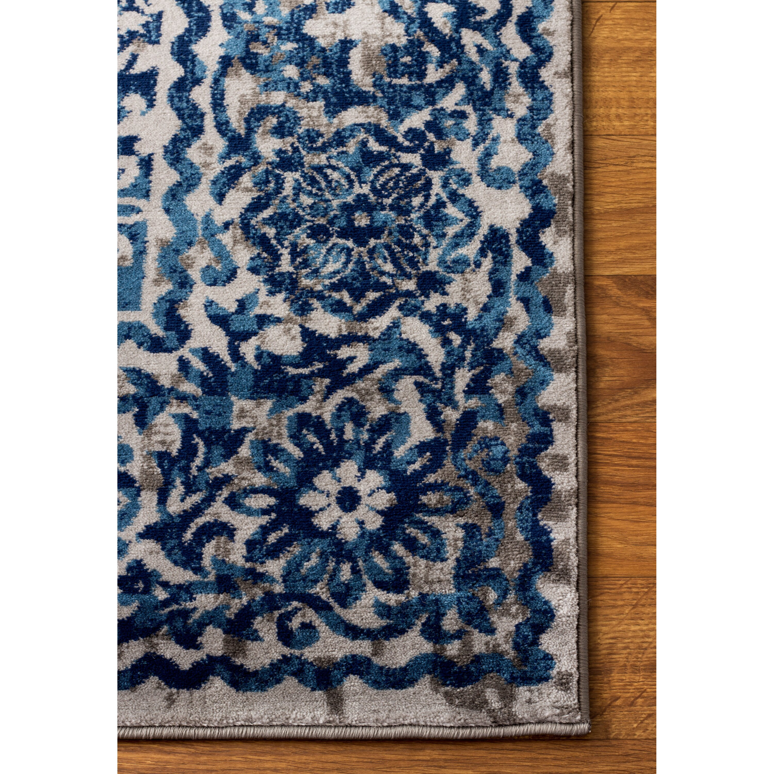 Super Area Rugs Artifact Gray Blue Area Rug Wayfair