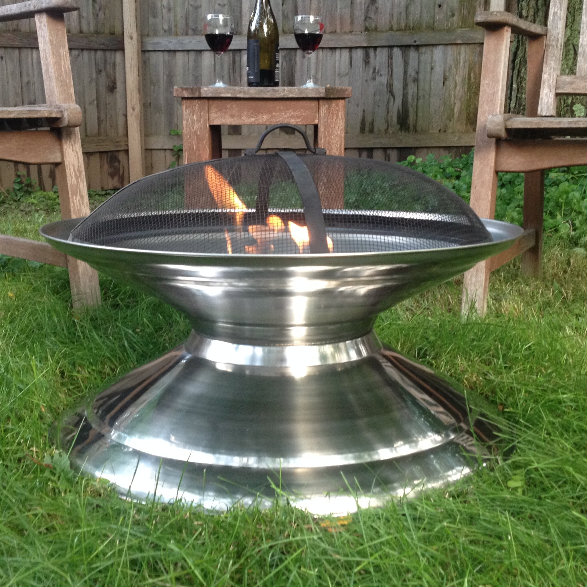 Pomegranate Solutions Stainless Steel Outdoor Fire Pit ...