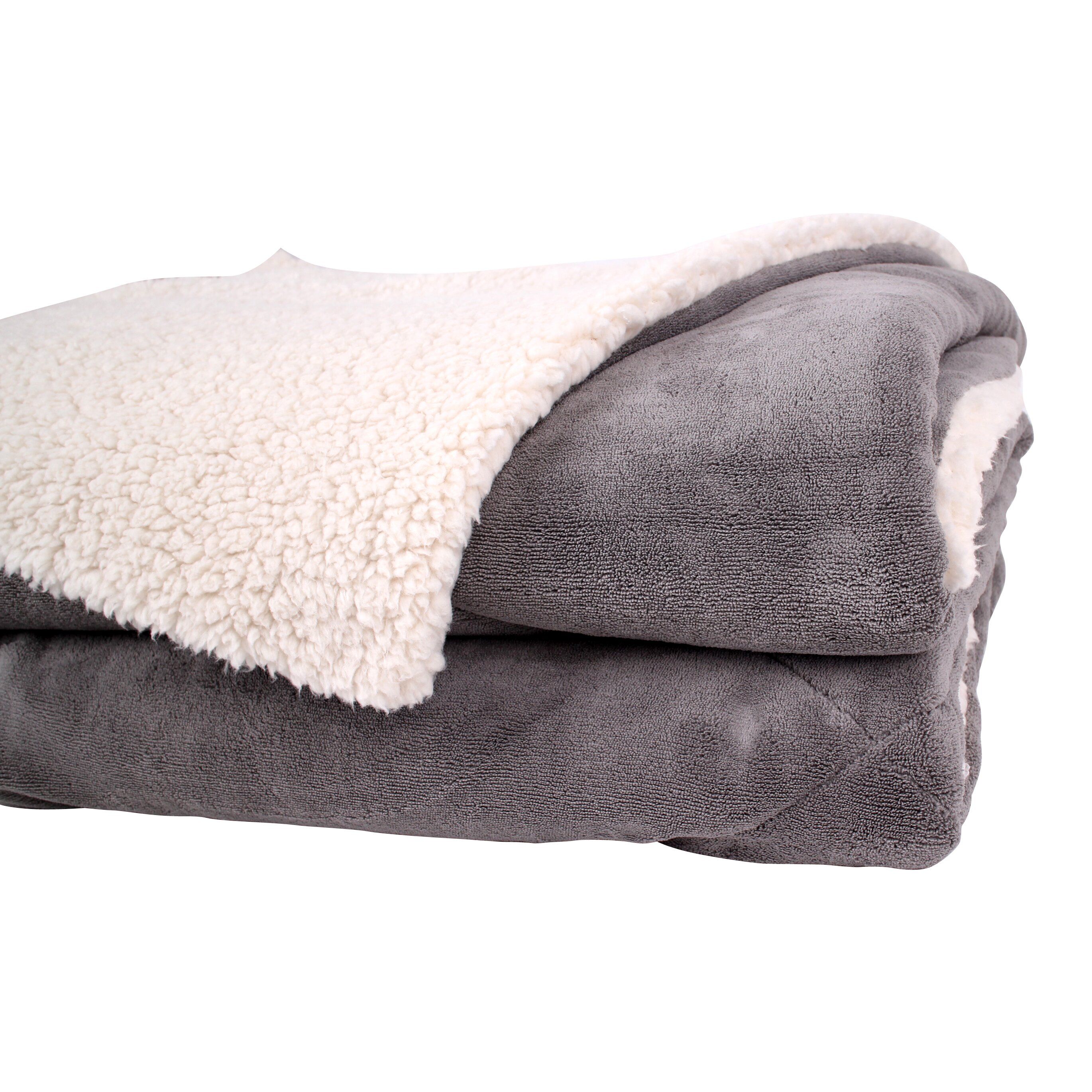 Fabbrica home thermal retention sherpa blanket reviews for Sherpa blanket