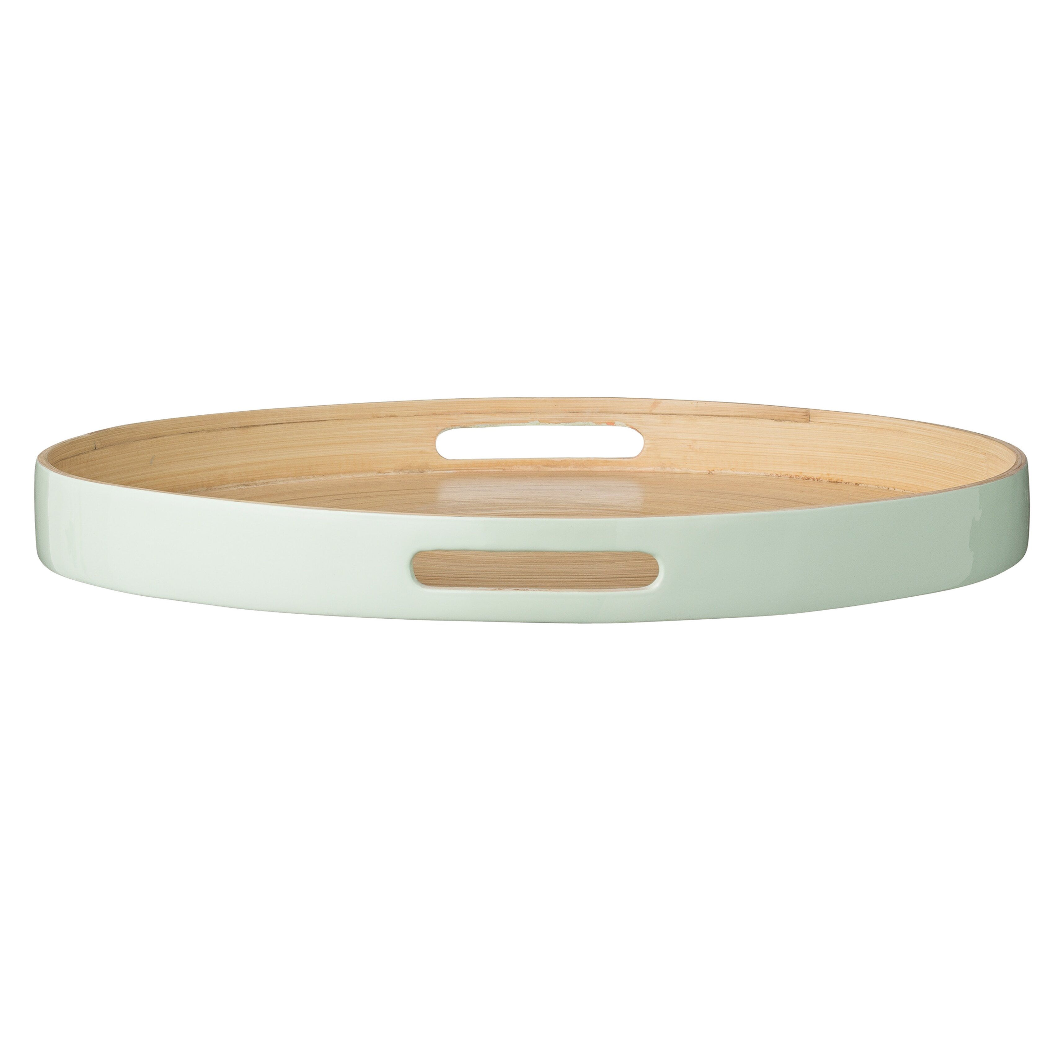 Mint Pantry Thyme Round Bamboo Tray With Edge Amp Reviews