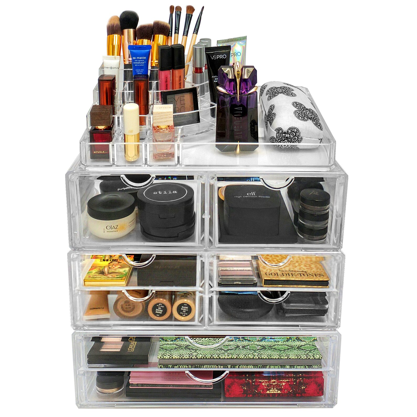 Sorbus Acrylic 8 Drawer With Sectional Organizer Amp Reviews