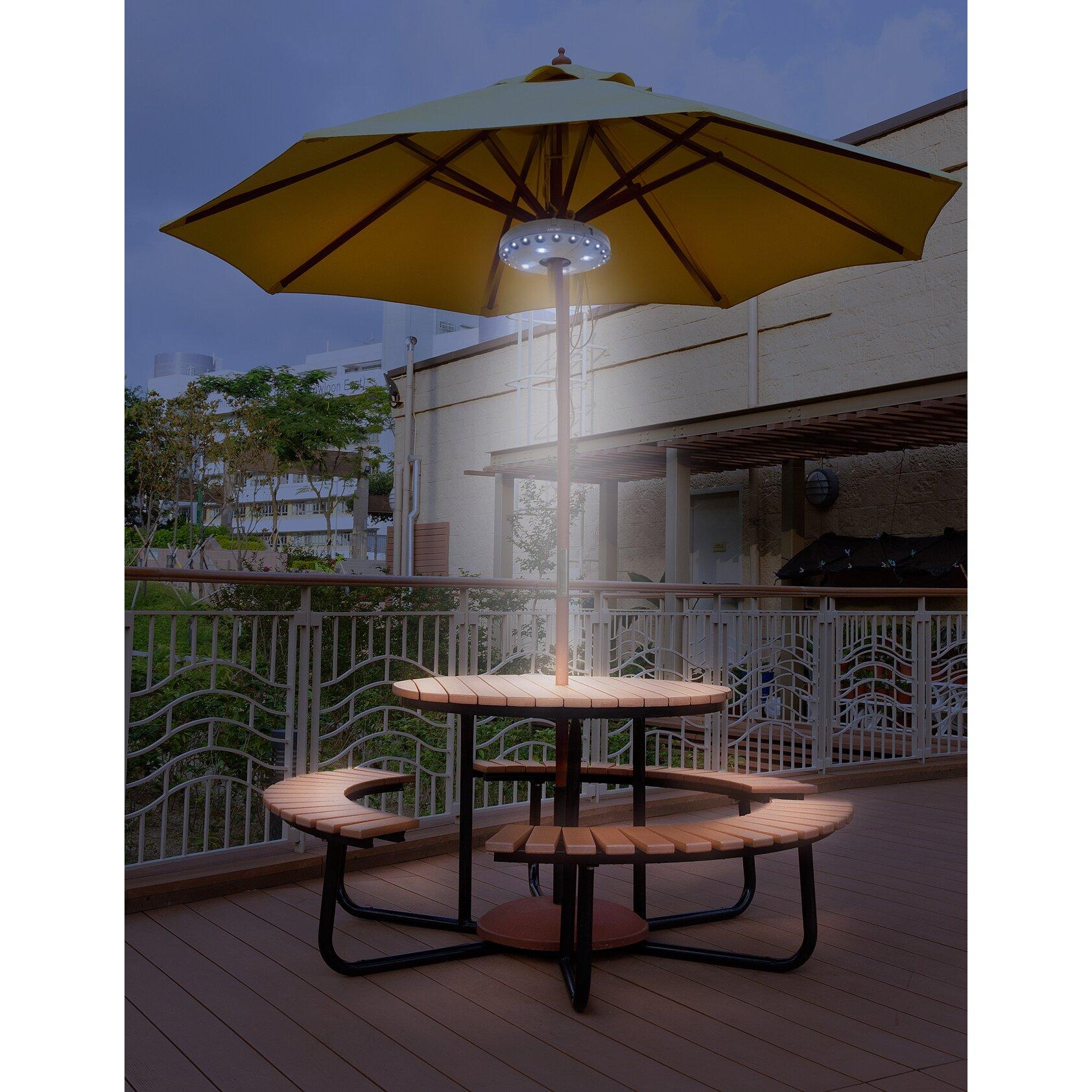 Sorbus Led Outdoor Umbrella: Sorbus Patio Umbrella Light
