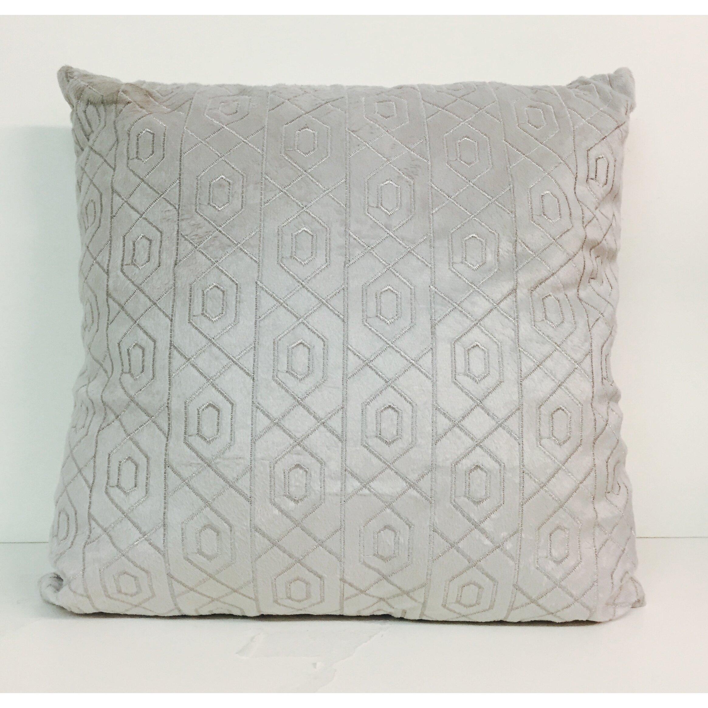 Artistic Linen Soft Velvet Plush Fabric Embroidered Throw Pillow & Reviews Wayfair