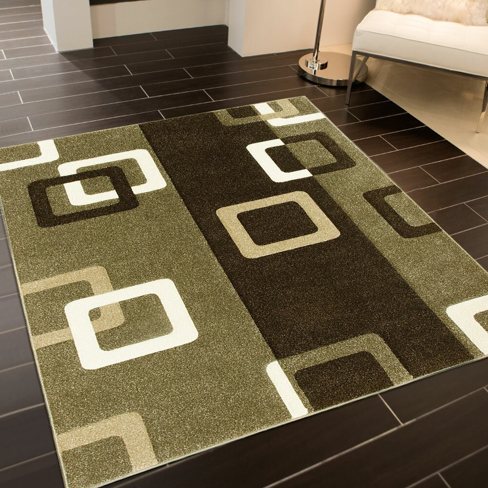 AllStar Rugs Green/Brown Area Rug