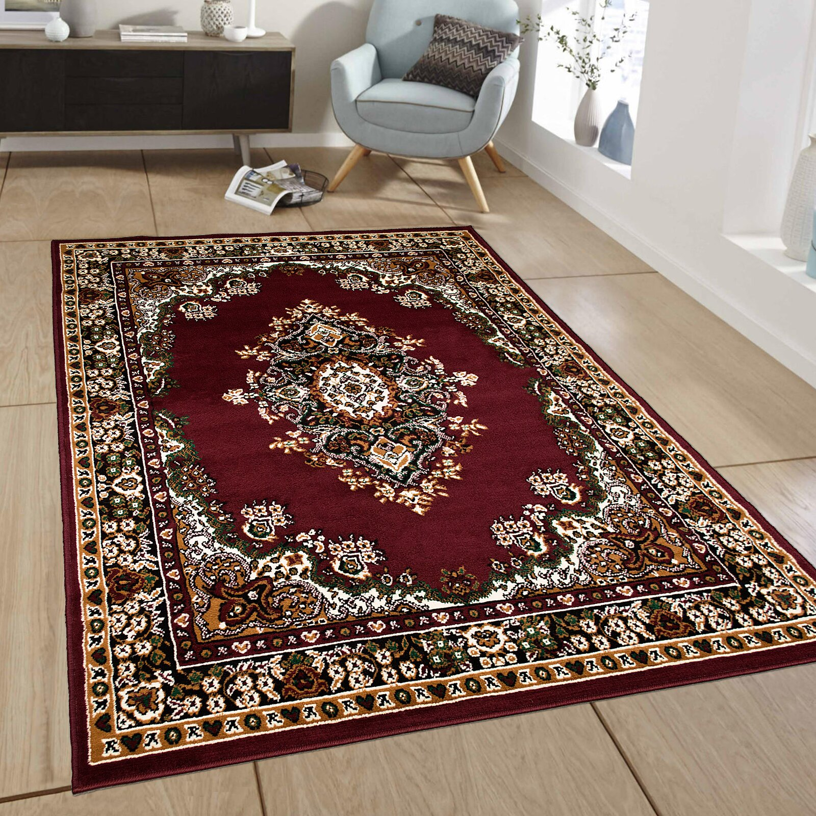 AllStar Rugs Burgundy Area Rug & Reviews