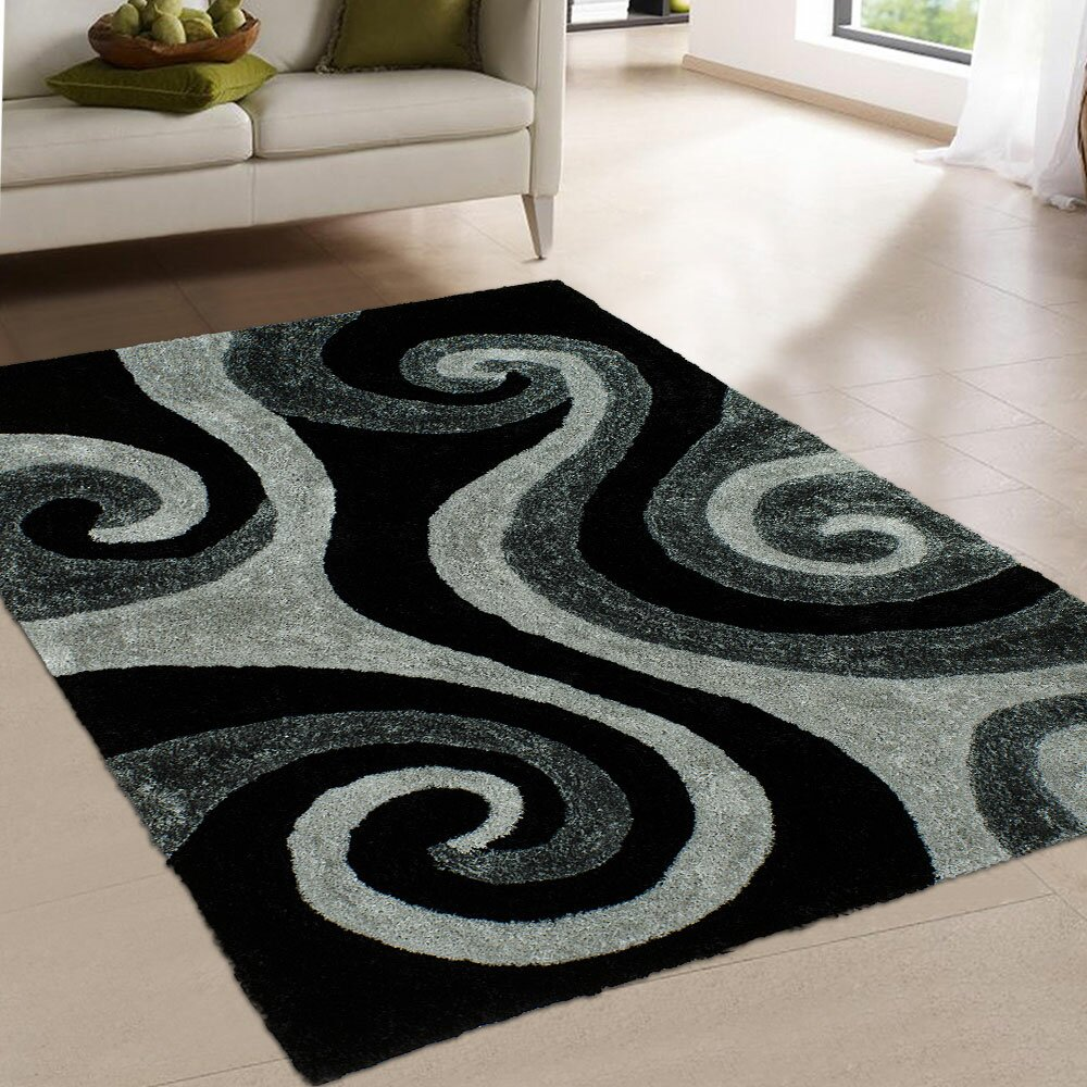 Allstar Rugs Hand Tufted Black Area Rug Wayfair Ca