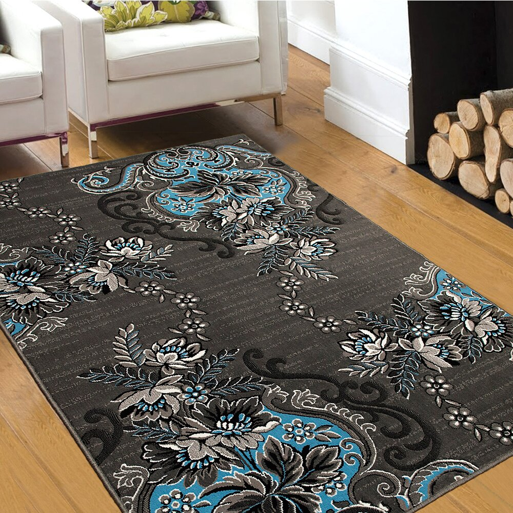 AllStar Rugs Blue/Gray Area Rug & Reviews