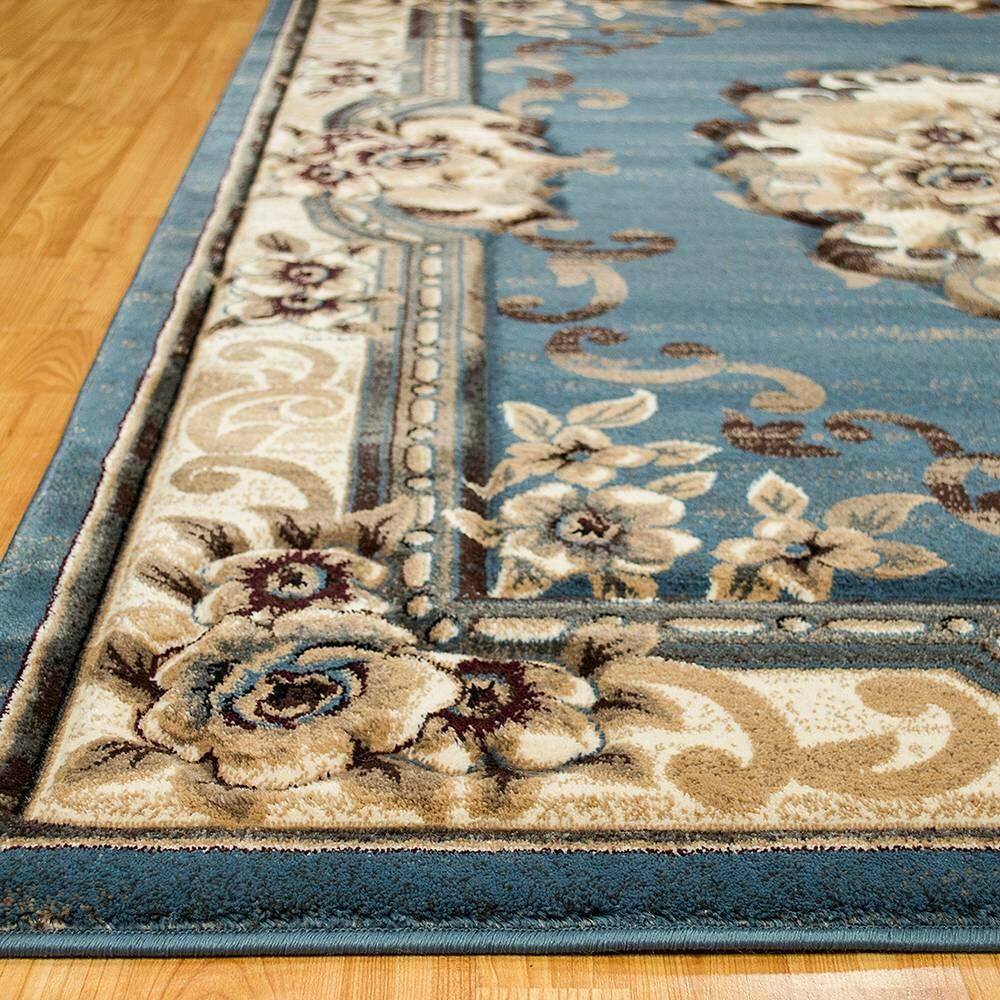 Allstar Rugs Persian Blue Beige Area Rug Amp Reviews Wayfair