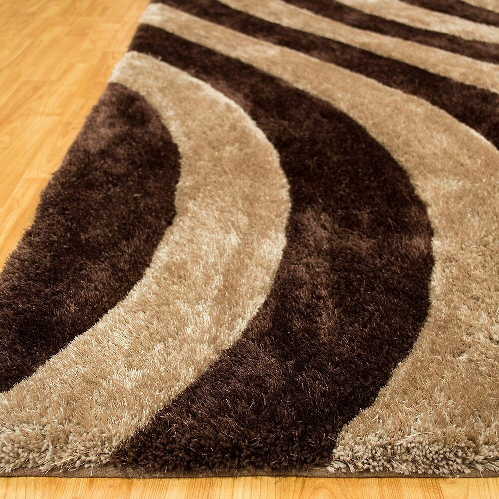 allstar rugs hand tufted black brown area rug. Black Bedroom Furniture Sets. Home Design Ideas