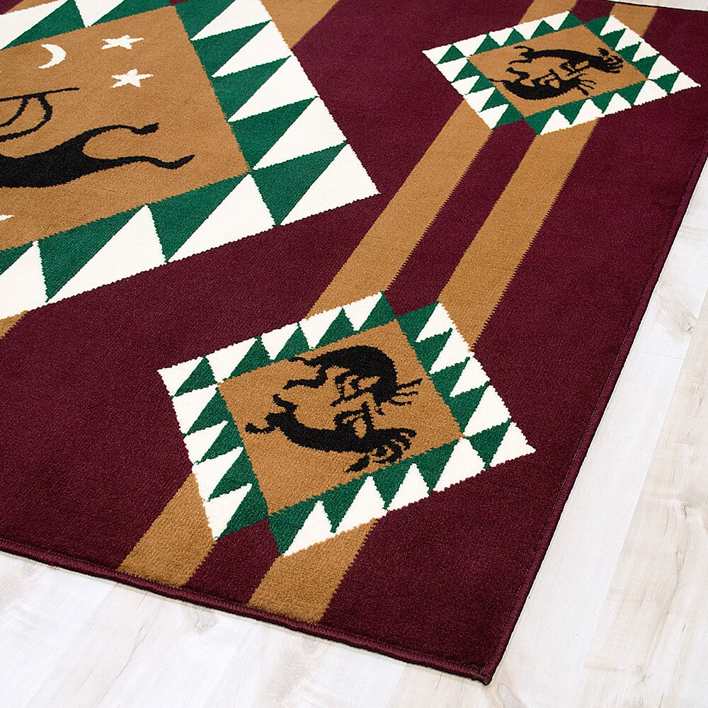 Allstar Rugs Burgundy Brown Area Rug Amp Reviews Wayfair